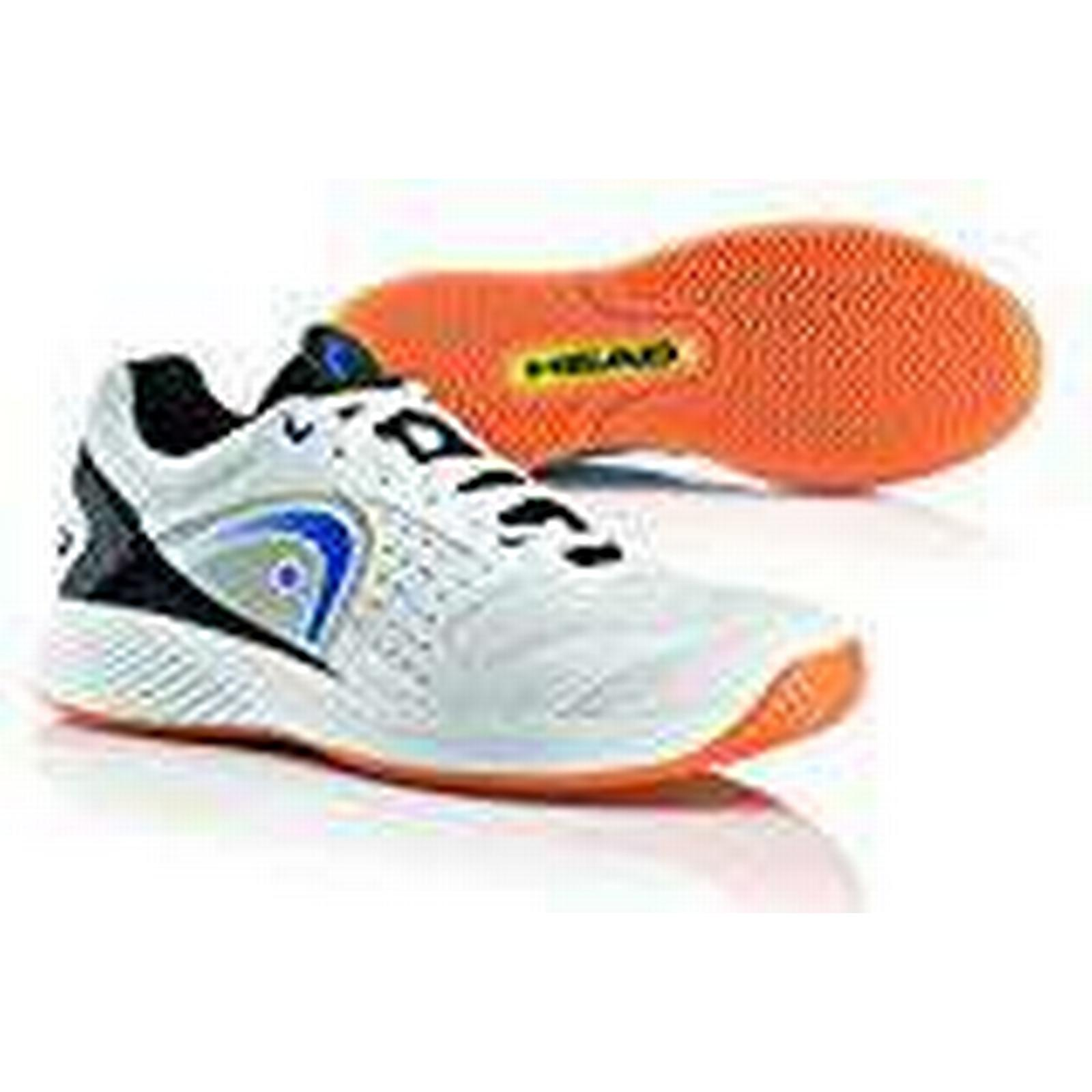 HEAD Men's Sprint Team Squash 8.5 Shoes, White (White/Blue/Black Whbb), 8.5 Squash UK 42.5 EU 1642a6