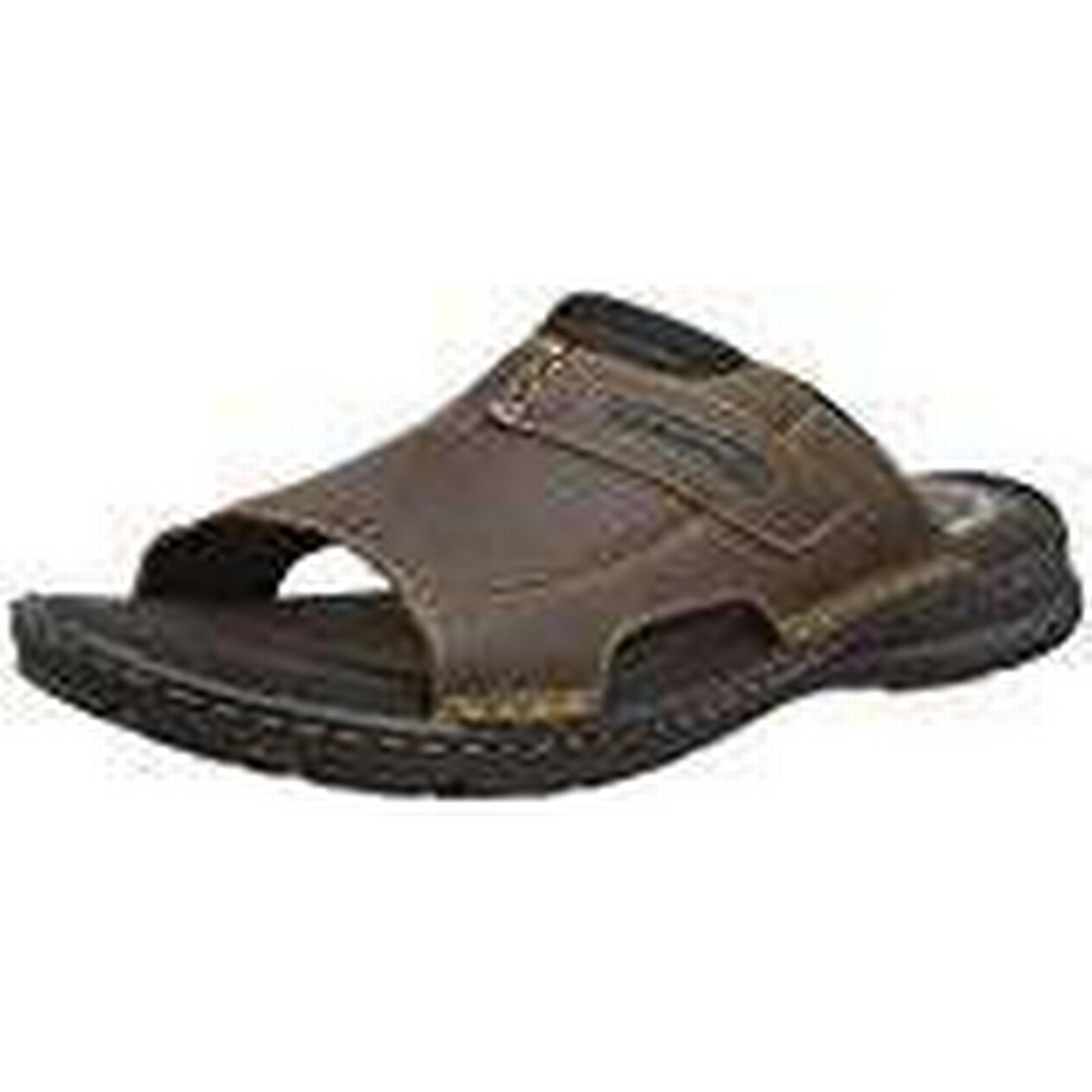 Rockport Men's Darwyn Slide 2 Brown Ii Lea Open Toe EU Sandals, 8 UK 41 EU Toe 1f49c8