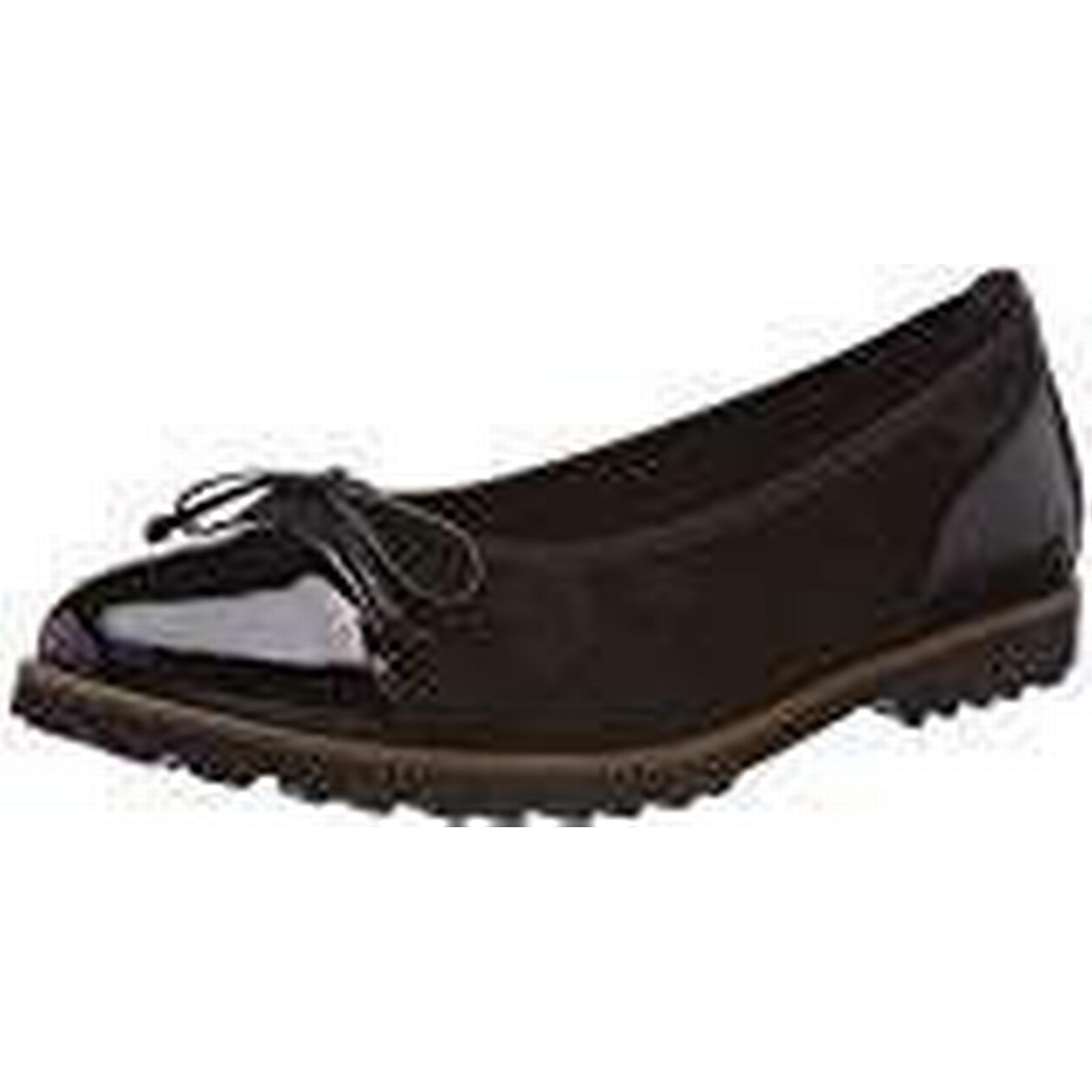 Gabor Shoes Women's Jollys Ballet 2.5 Flats, Black (Schwarz Cognac), 2.5 Ballet UK d5aec0