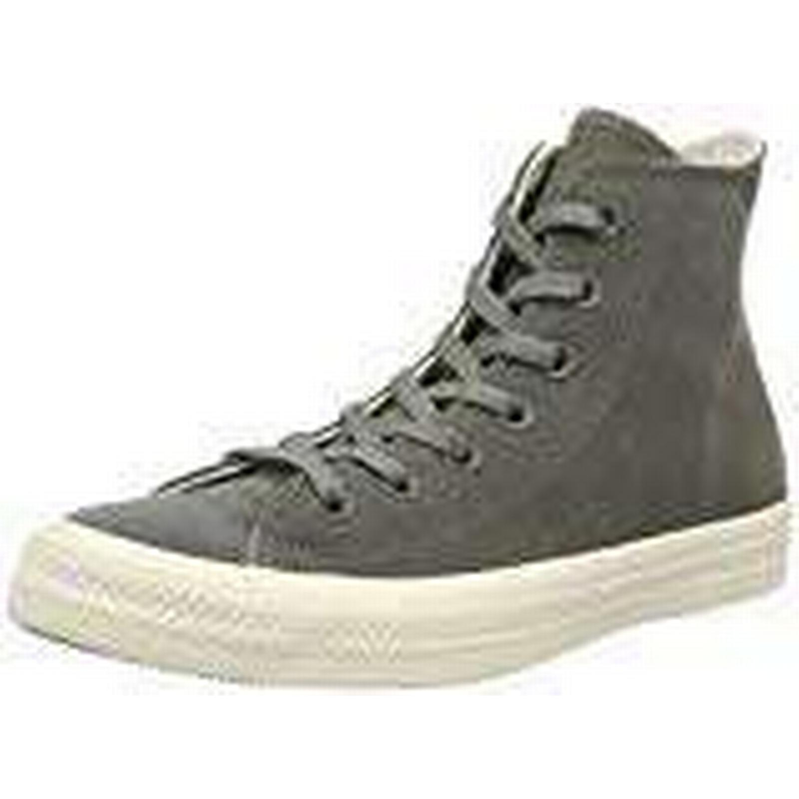 Converse Unisex Adults' Chuck Taylor Shoes, CTAS Hi Leather Fitness Shoes, Taylor Grey (River Rock Driftwood 088), 6 UK 6 UK ce5b59