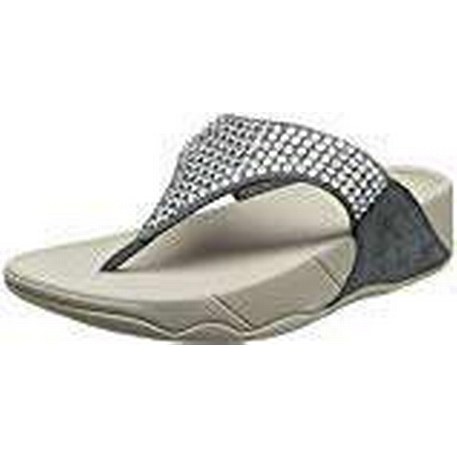 Fitflop Women's Glitzie Thong Heels 7 Sandals, Blue (Dove Blue), 7 Heels UK (41 EU) b129f1