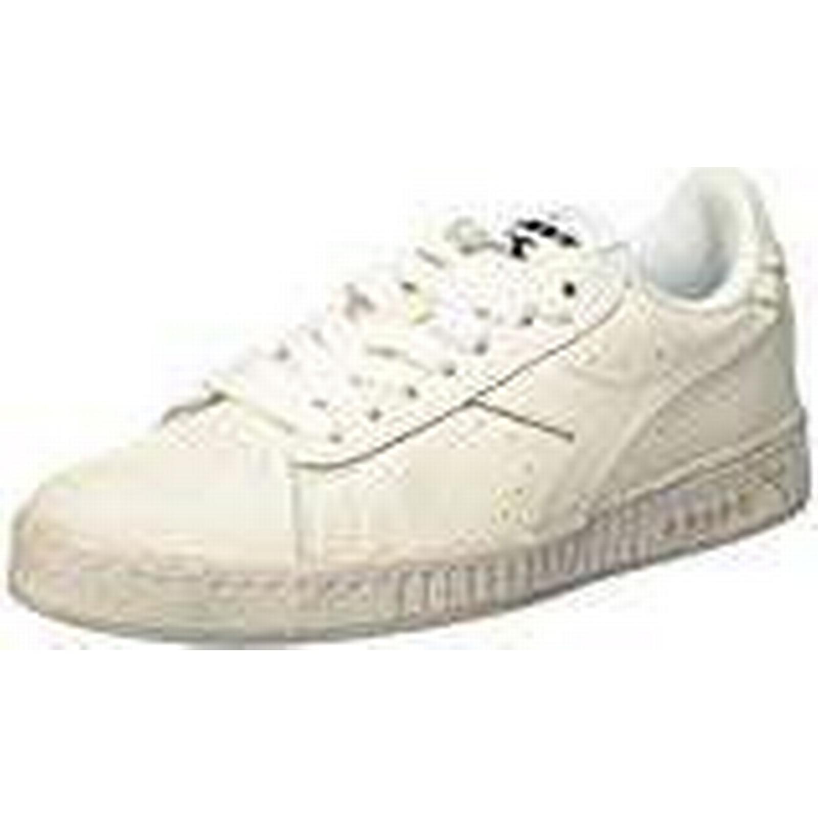 Diadora Men's Game L Waxed (Bianco/bianco/bianco), Low-Top Sneakers, Off White (Bianco/bianco/bianco), Waxed 10.5 UK 71d336