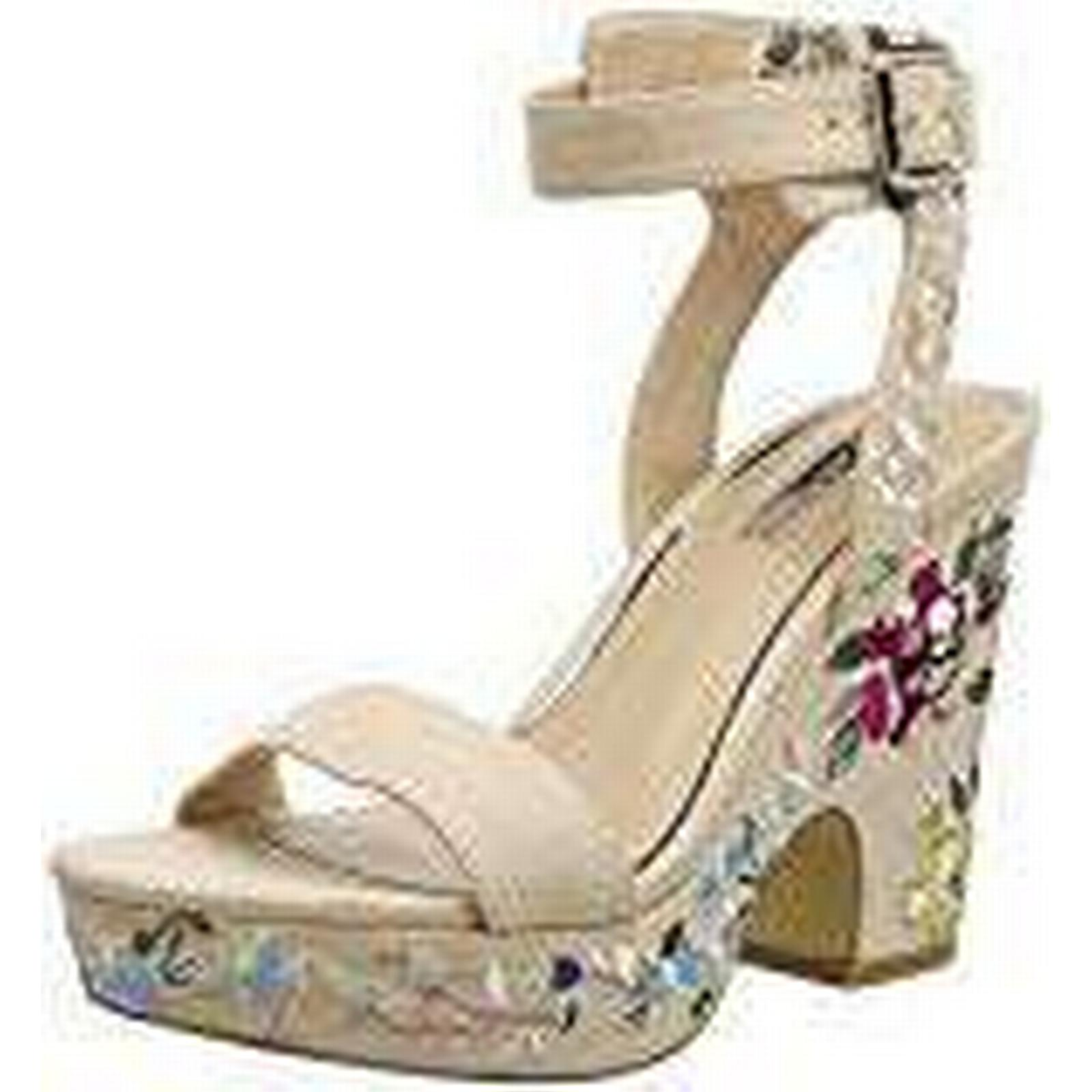 Miss Selfridge Women''s Embroidered Ankle Strap Sandals, Multicolour EU (Multi), 6 UK 39 EU Multicolour 77ad4d