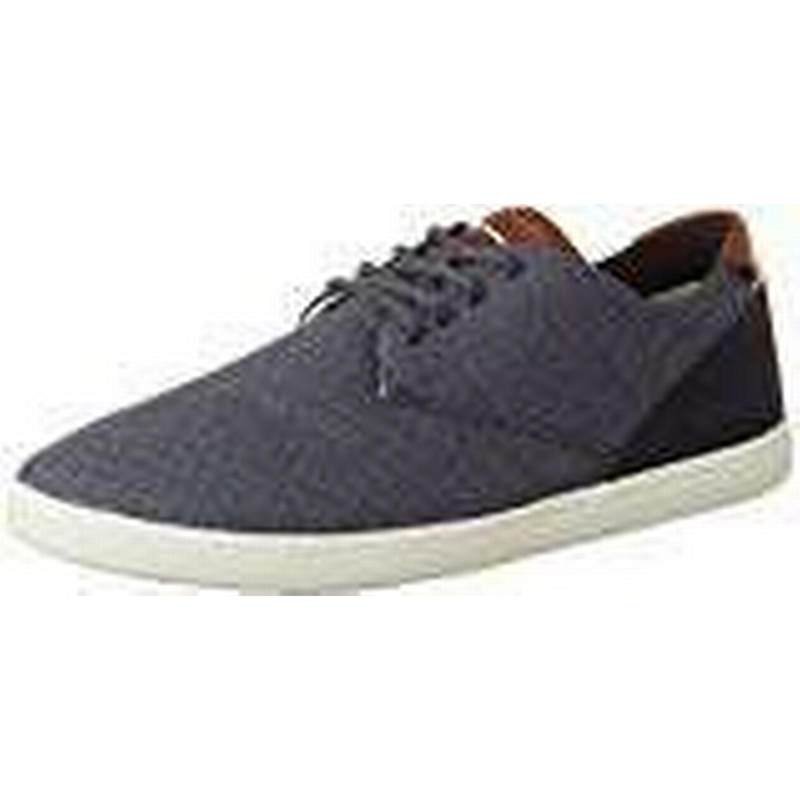 Boxfresh Men's 9 Henning Ch Slub/SDE NVY Low-Top Sneakers (Blue), 9 Men's UK 43 EU 343962