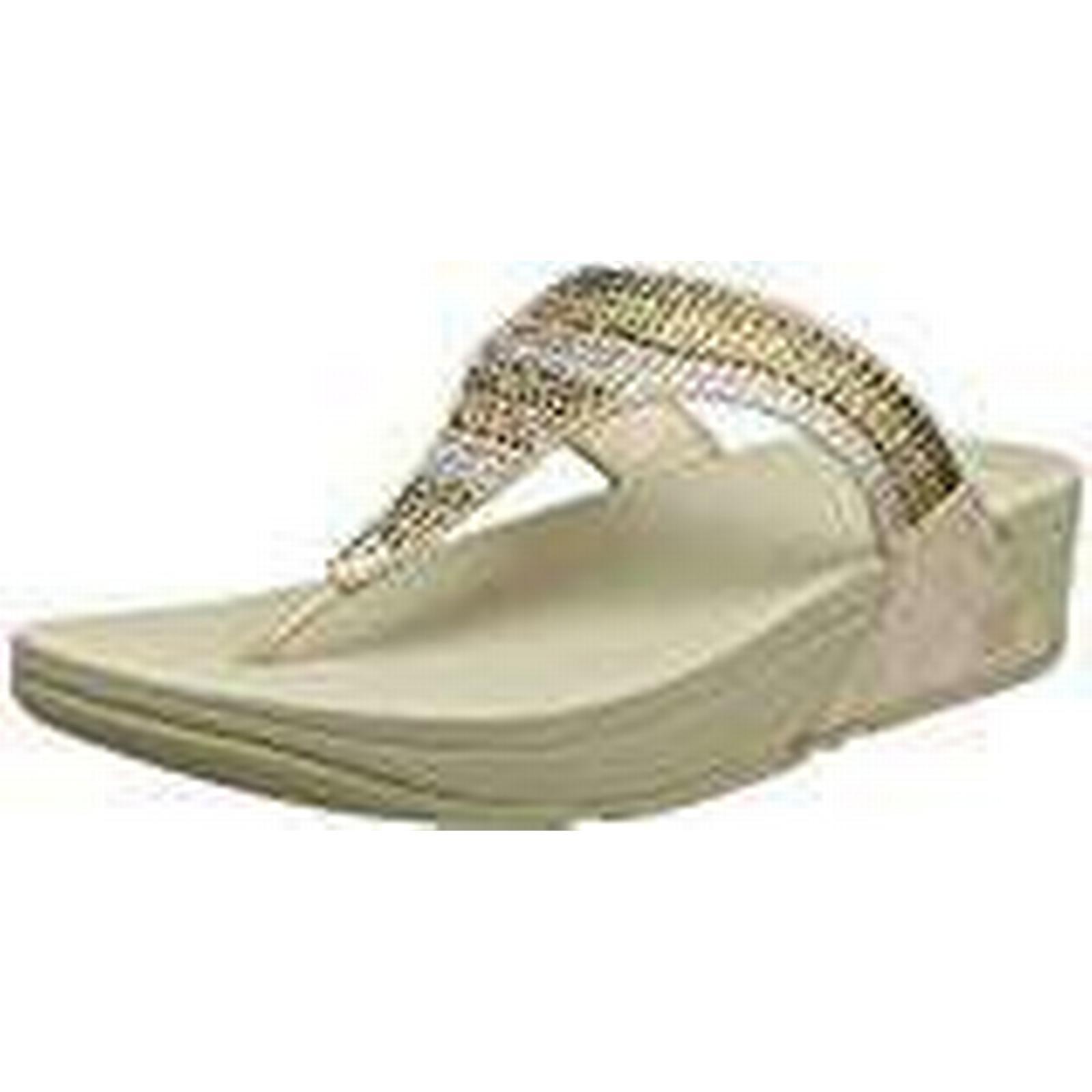 Fitflop Women's Strobe Luxe Toe-Thong UK Sandals Open (Gold), 6.5 UK Toe-Thong 40 EU 06efb2