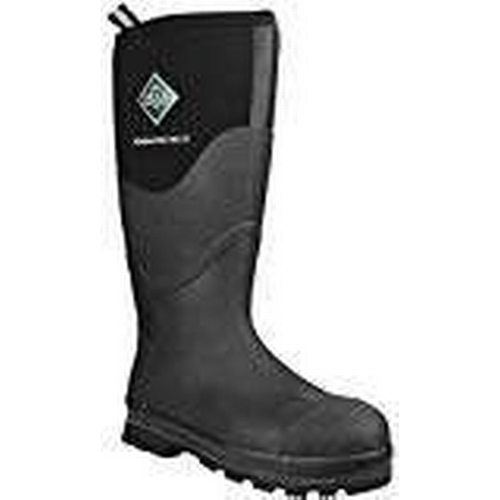 Muck Boots Men's Workmaster Pro Hi S/T-Black Wellington Boots, Black EU (Black), 12 UK 47 EU Black a9d9d0