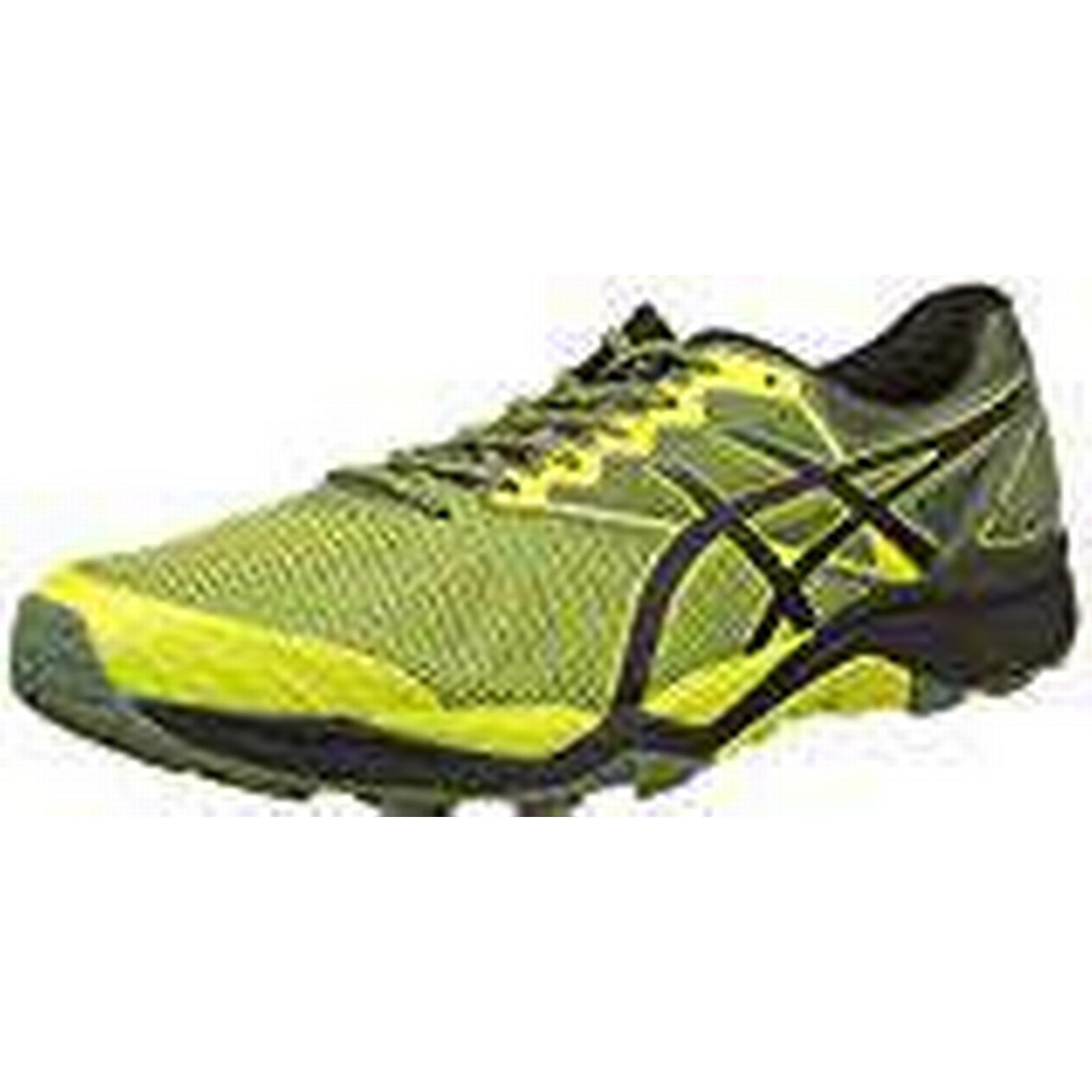 Asics Men's Gel-Fujitrabuco 6 Trail Running Shoes, Yellow (Sulphur Spring/Black/Four UK Leaf Clover 8990), 7.5 UK Spring/Black/Four (42 EU) 078fa0