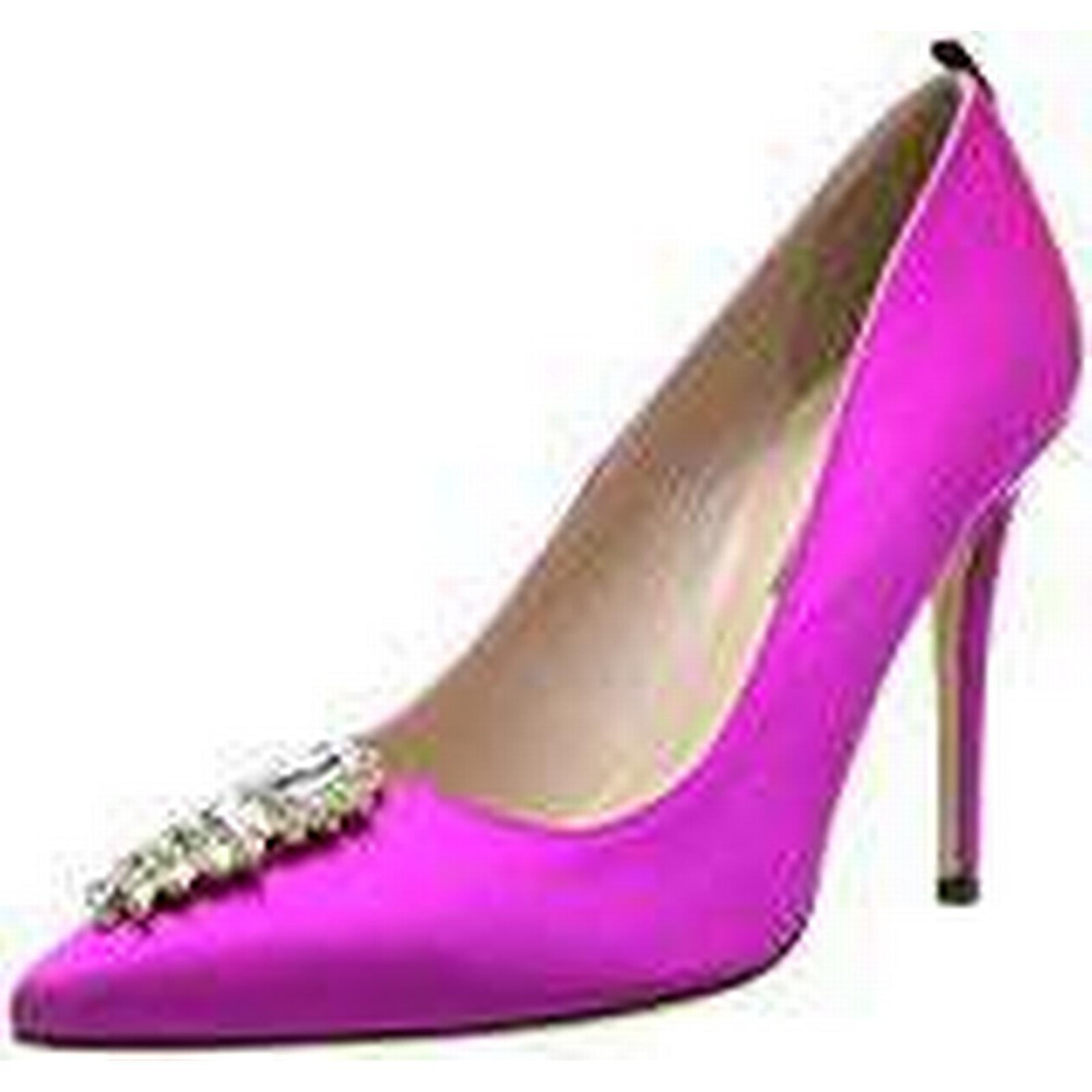 SJP by Sarah Jessica Parker Pink Women''s Tempest Closed-Toe Pumps, Pink Parker (Candy Satin), 8 UK 46967f