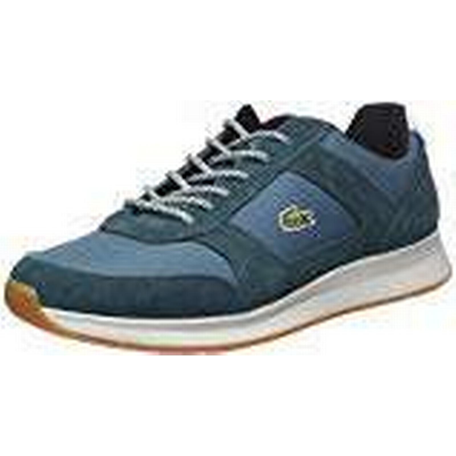 Lacoste Sneakers, Sport Men's Joggeur 417 1 SPM Dk Low-Top Sneakers, Lacoste Green (Grn/Blk), 9 UK 2b1495