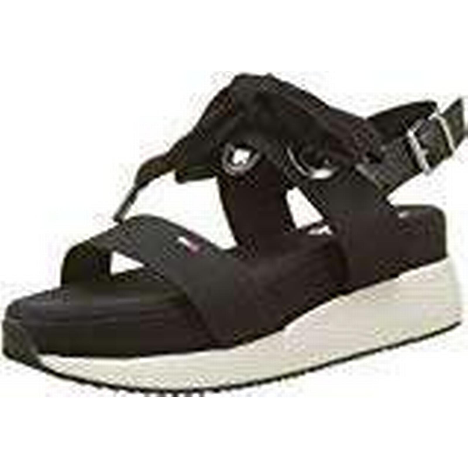 Tommy Jeans Hybrid Hilfiger Denim Women's Modern Hybrid Jeans Sandal Bow Sling Back (Black 990), 5 UK 5 UK 5bd145