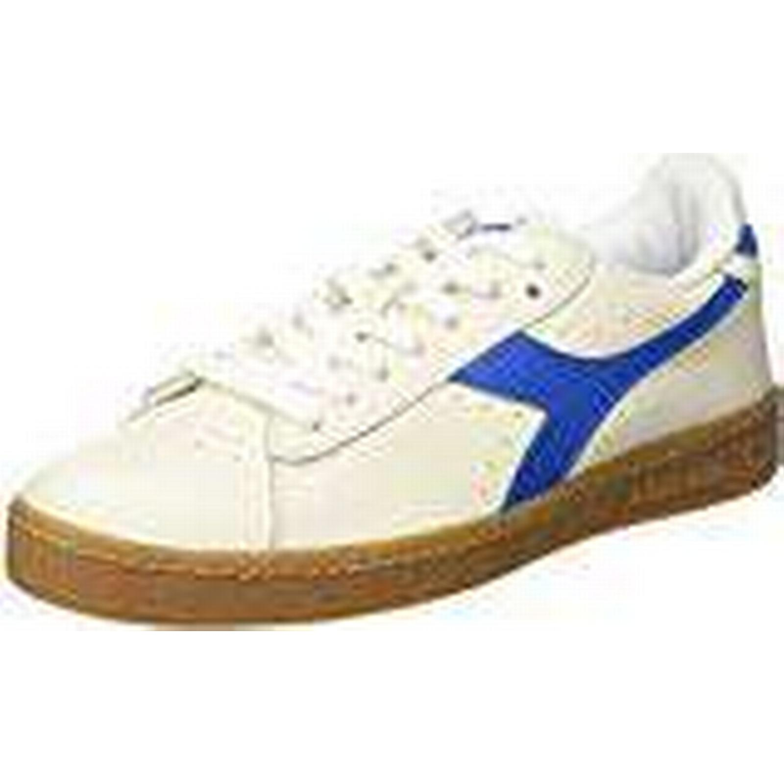 Diadora Men's Shoes, Game L Low Gymnastics Shoes, Men's Off White (Bianco Blu Imperiale), 12 UK 520c76