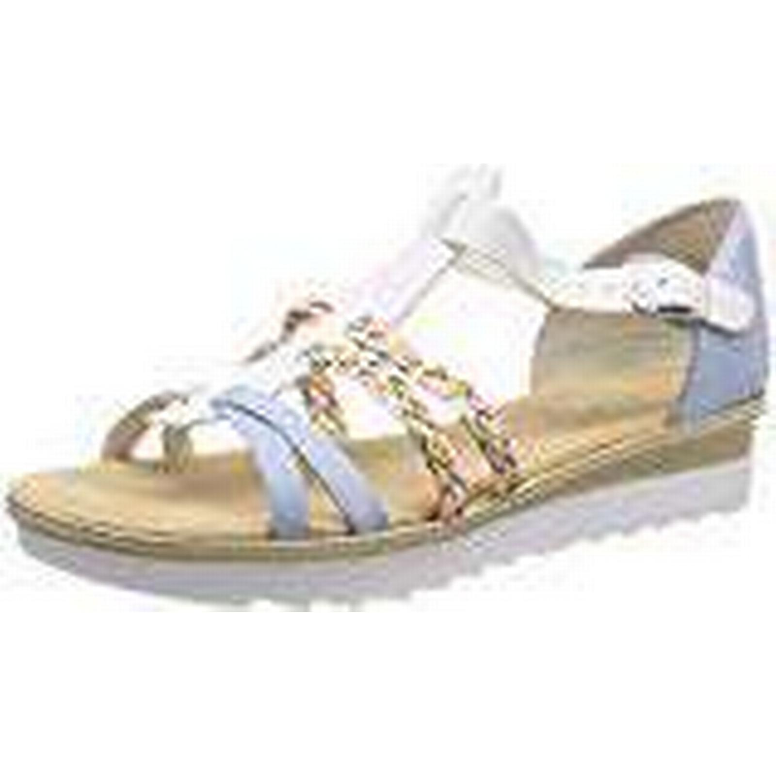 Rieker Women's 63198 UK Gladiator Sandals, Multicolour (Sky/Weiss/Rainbow 10), 7.5 UK 63198 7.5 UK 87be58