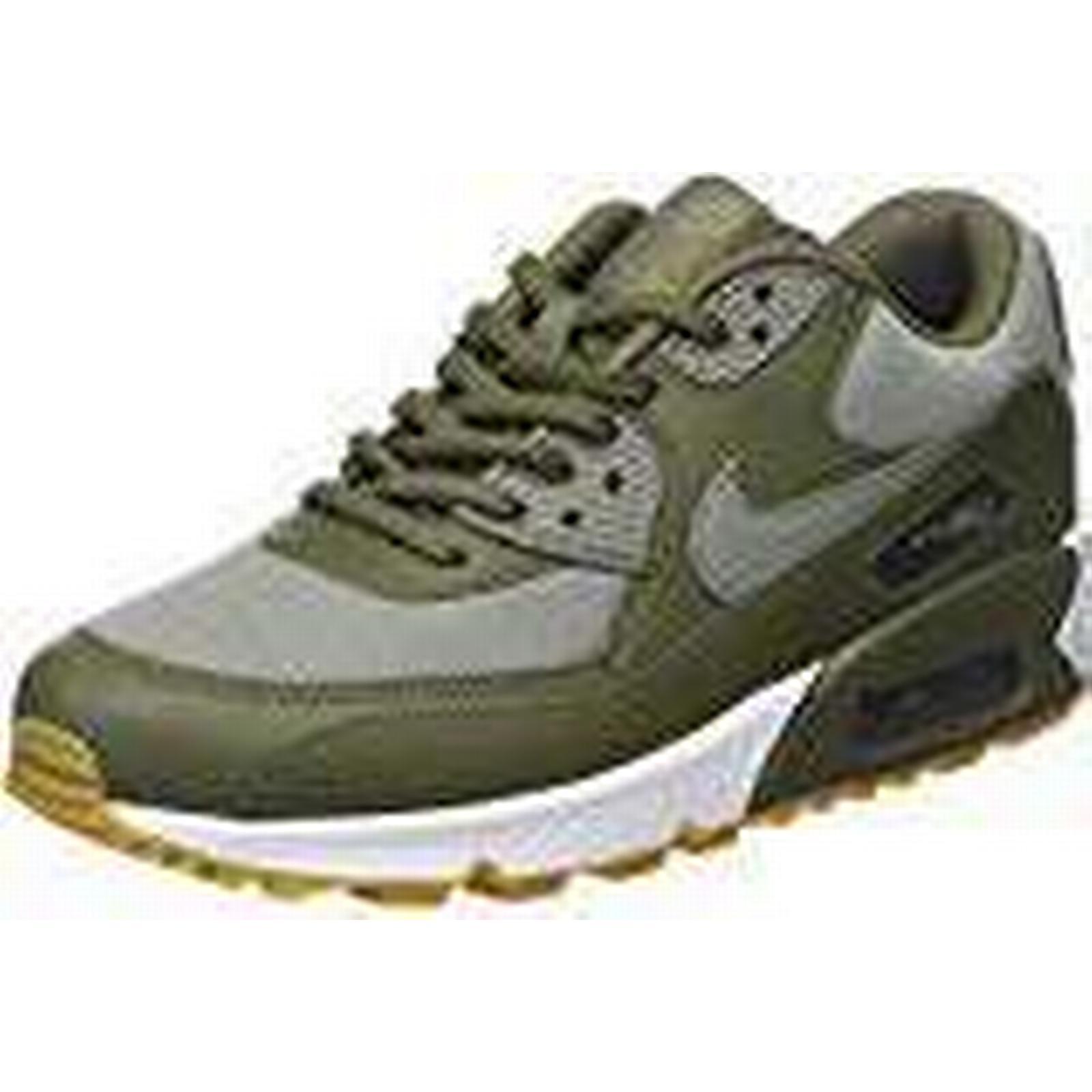 Nike Womens Air Max 90 Olive Dark Low Top Sneakers Green Med Stucco Sequoia Gum Light Brown 205 35 Uk 64f788