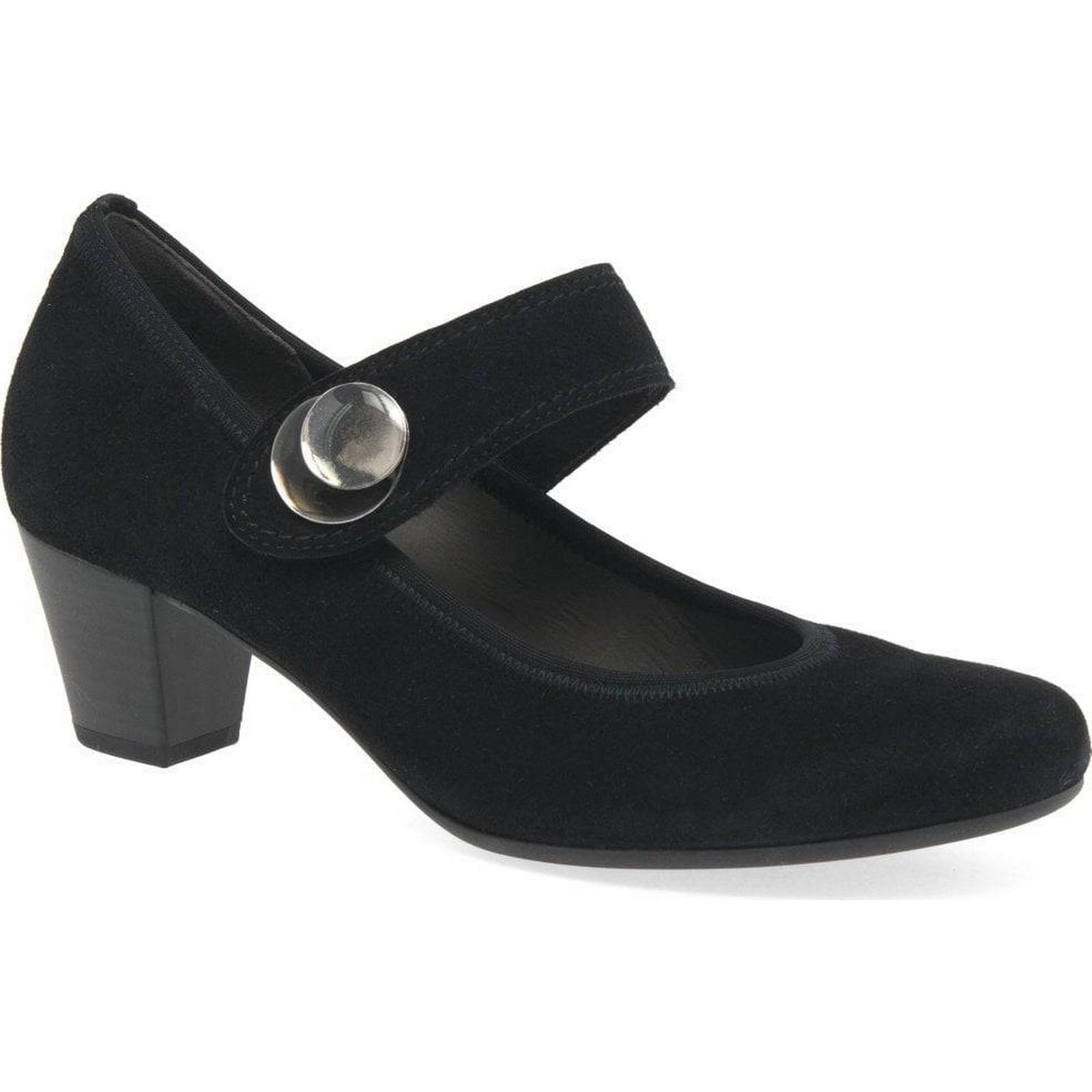 Gabor Colour: Nola Womens Suede Mary Jane Shoes Colour: Gabor Black Suede, Size: 5.5 4647bd