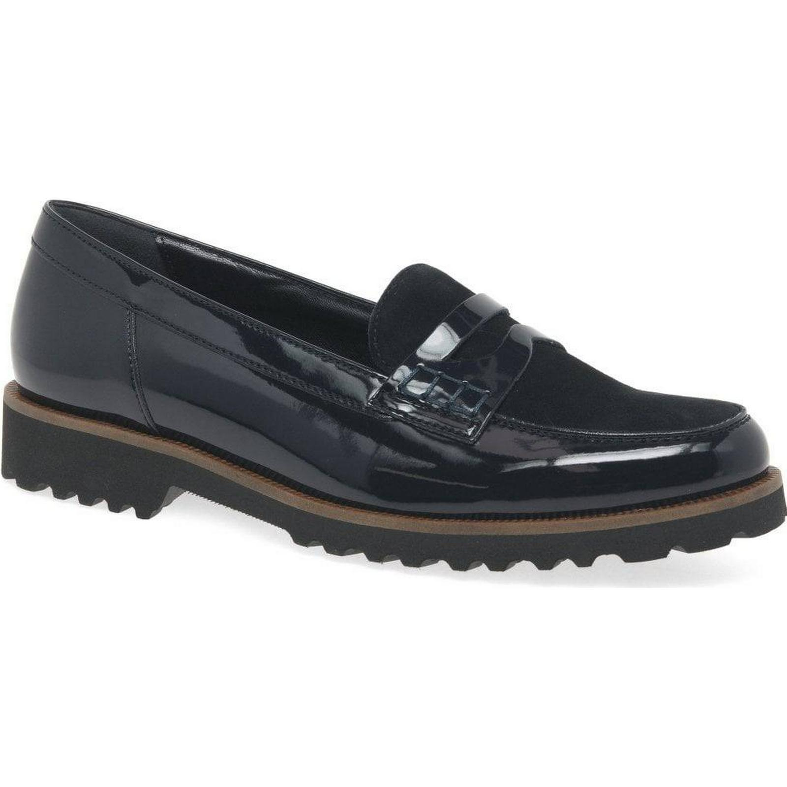 Gabor Skipper Womens Patent/Suede, Casual Shoes Colour: Navy Patent/Suede, Womens Size: 8 d65d1a