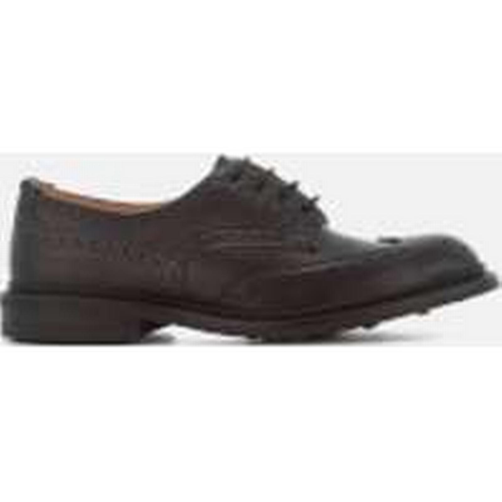 Tricker's Men's - Bourton Crosshatch Leather Brogues - Men's Black 0ec4da