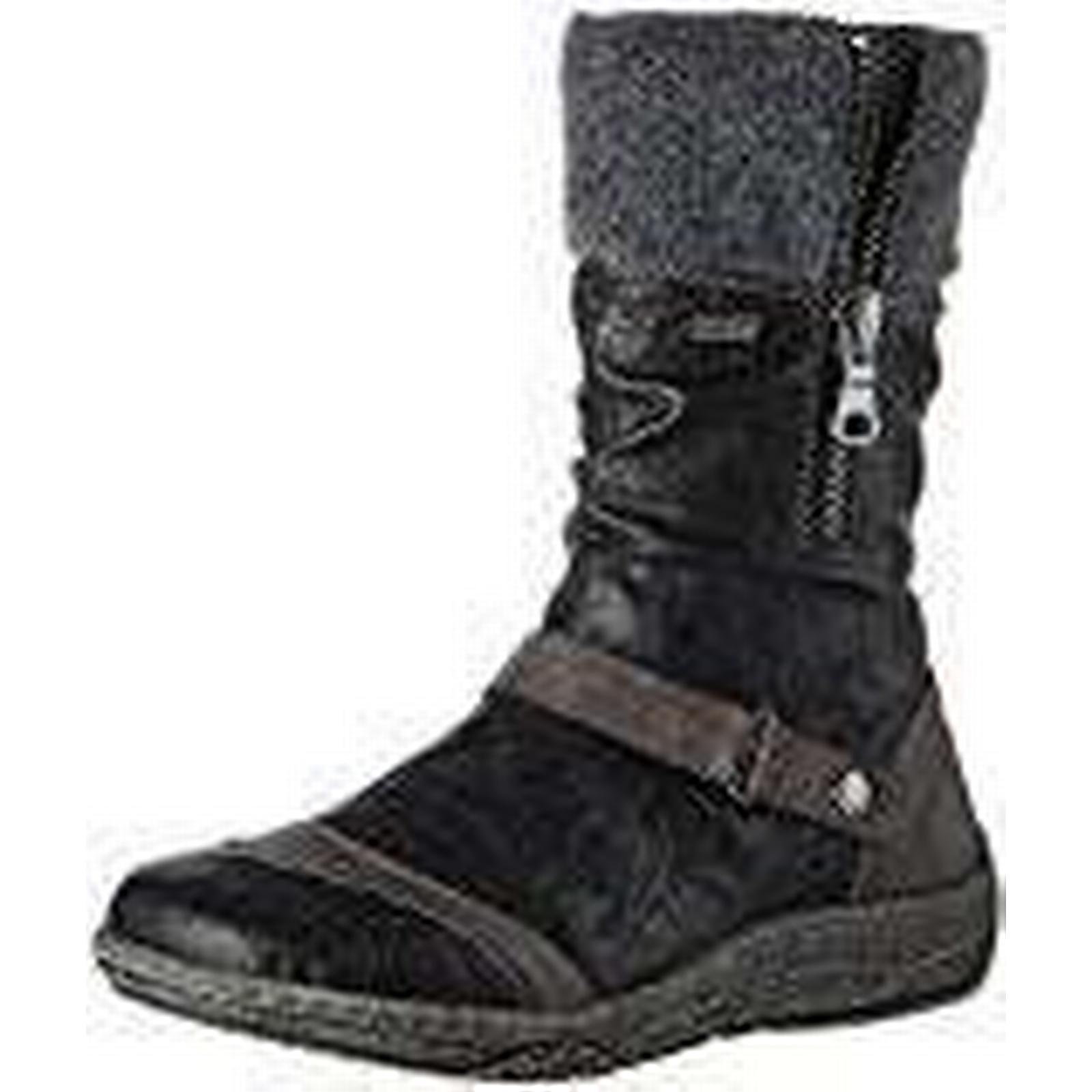 Remonte Women's D3889 Snow Boots, UK Black Fumo/Schwarz 01, 5 UK Boots, 5 UK bda386