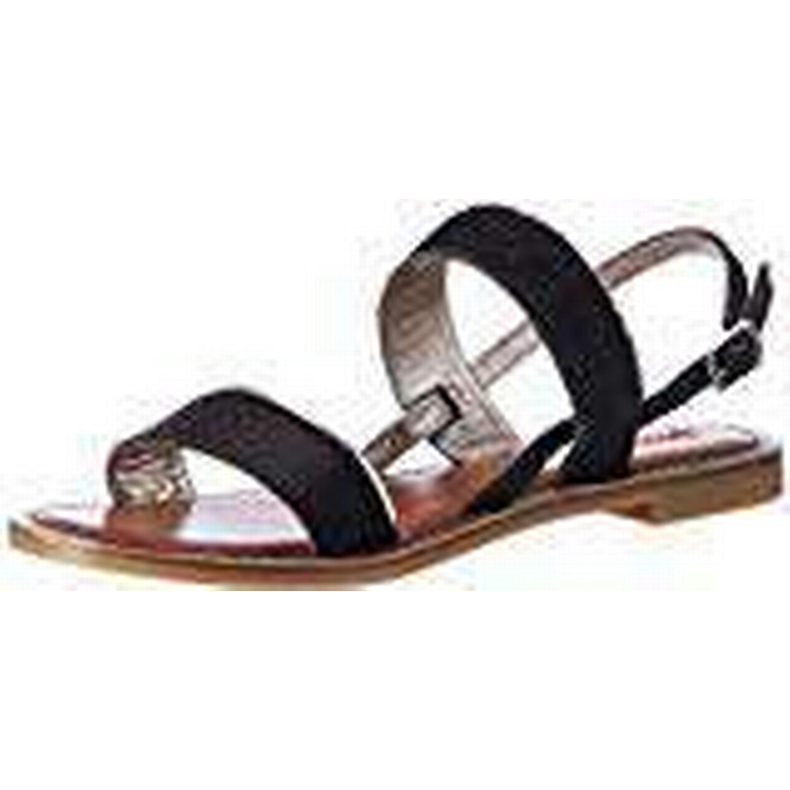 Inuovo Women's (Black-Pewter), 7229 Strappy Sandals, Black (Black-Pewter), Women's 40 EU 909e42