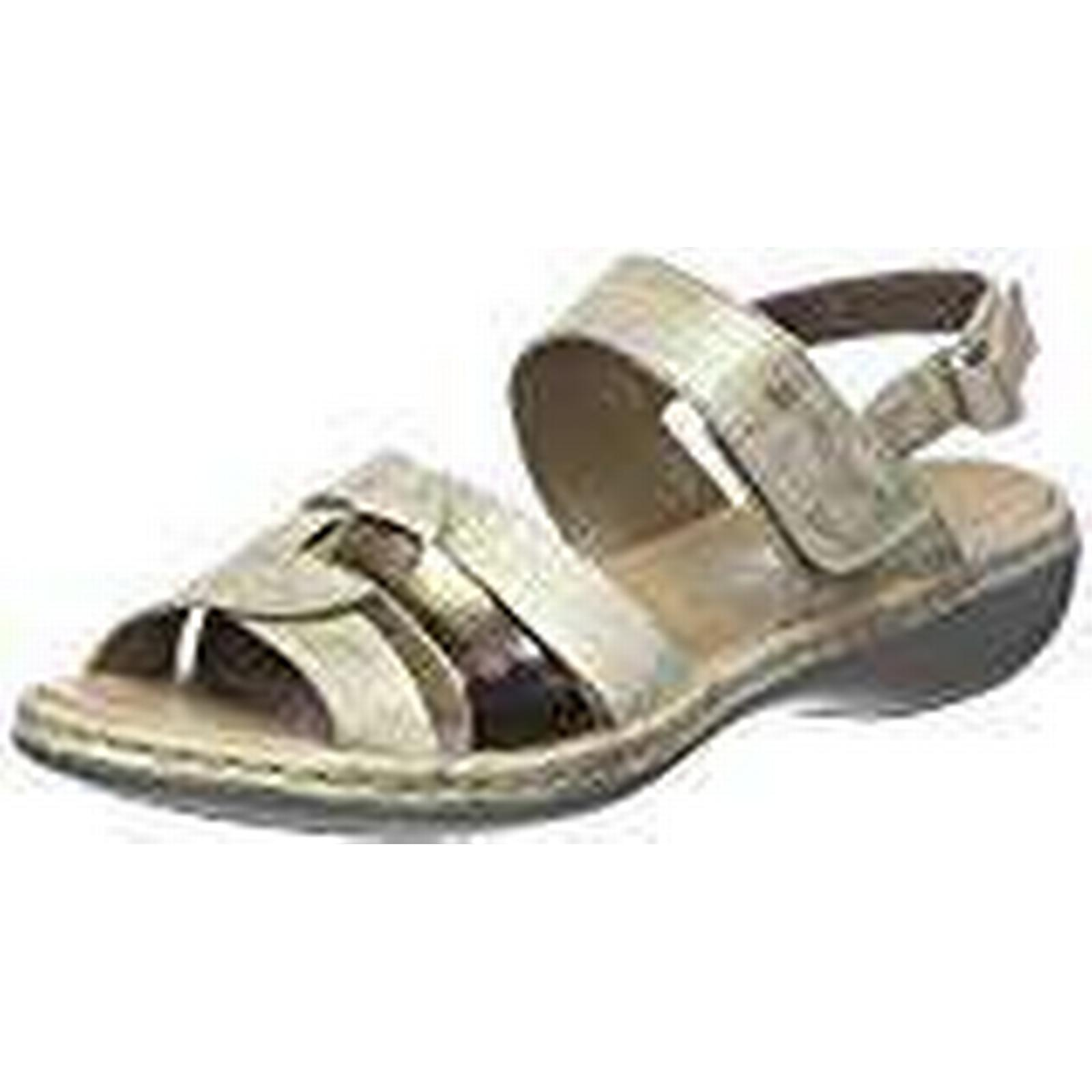 Rieker Women's 659L5-62 UK Open Toe Sandals, Beige (62), 4 UK 659L5-62 37 EU 20c2b6