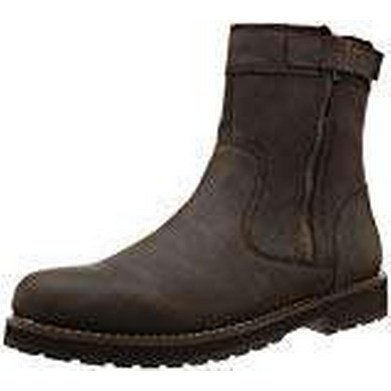 TBS Quamer, Mens 11 Biker Boots, Brown (Ebene), 11 Mens UK (45 EU) 88099a
