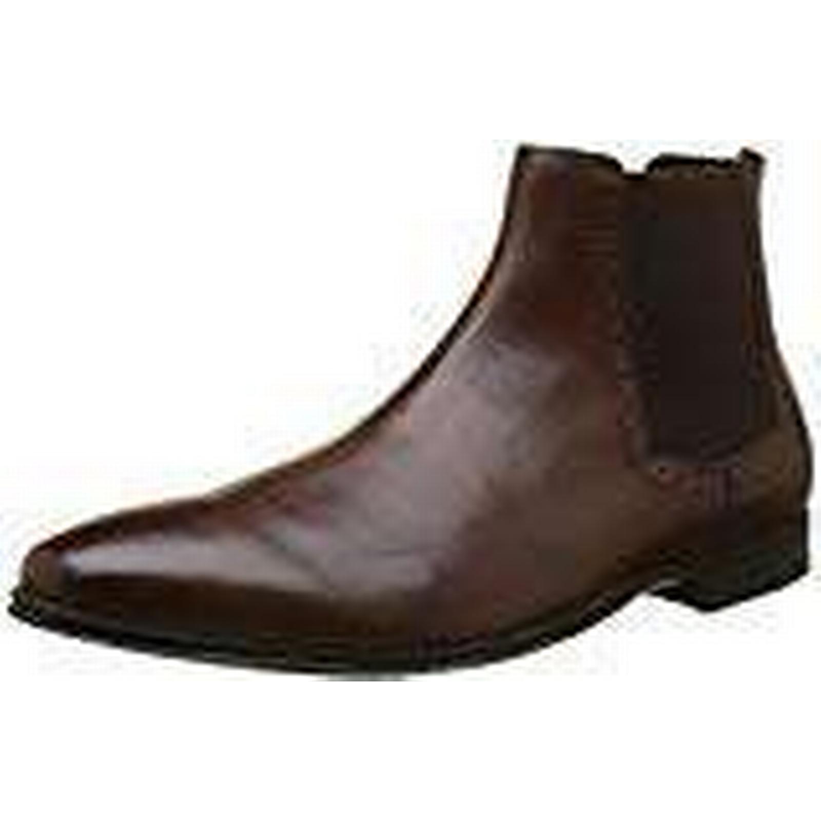 New Look Men's Leather Chelsea 27), Boots, Brown (Dark Brown 27), Chelsea 10 UK 44 EU 35f069