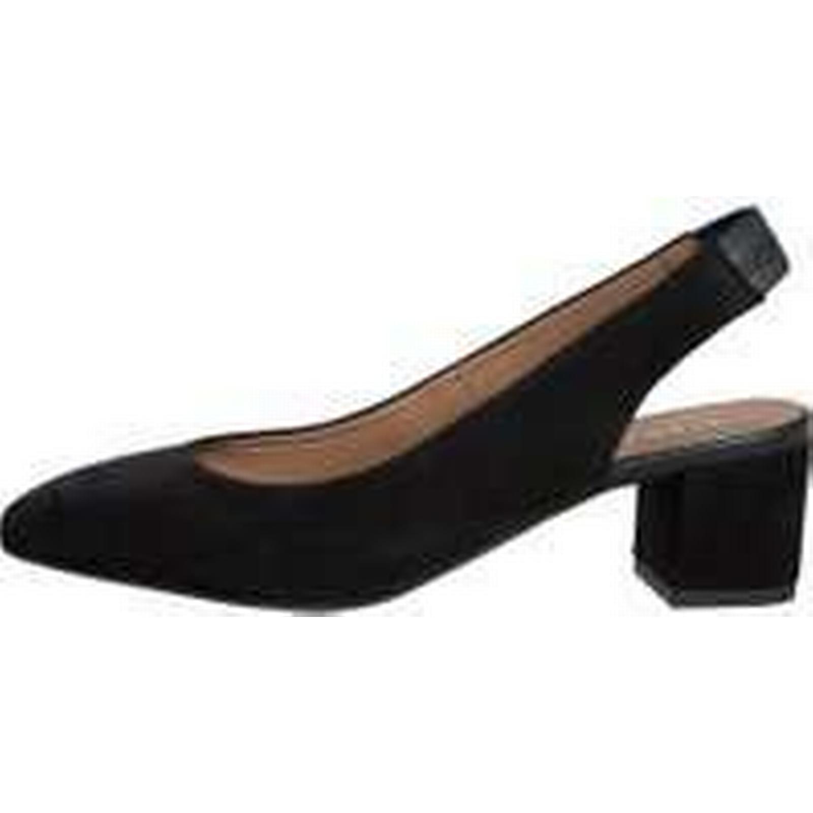 PIECES Suede Open Suede PIECES Pumps Women Black (36) 9d4a59