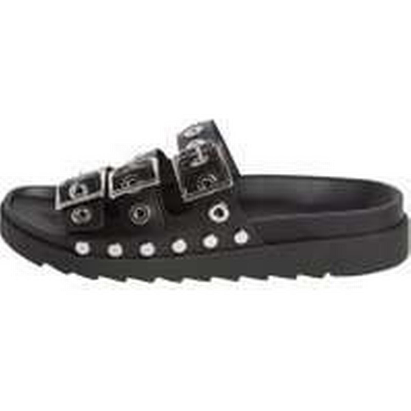 PIECES Leather Leather PIECES Sandals Women Black (37) 0e425e