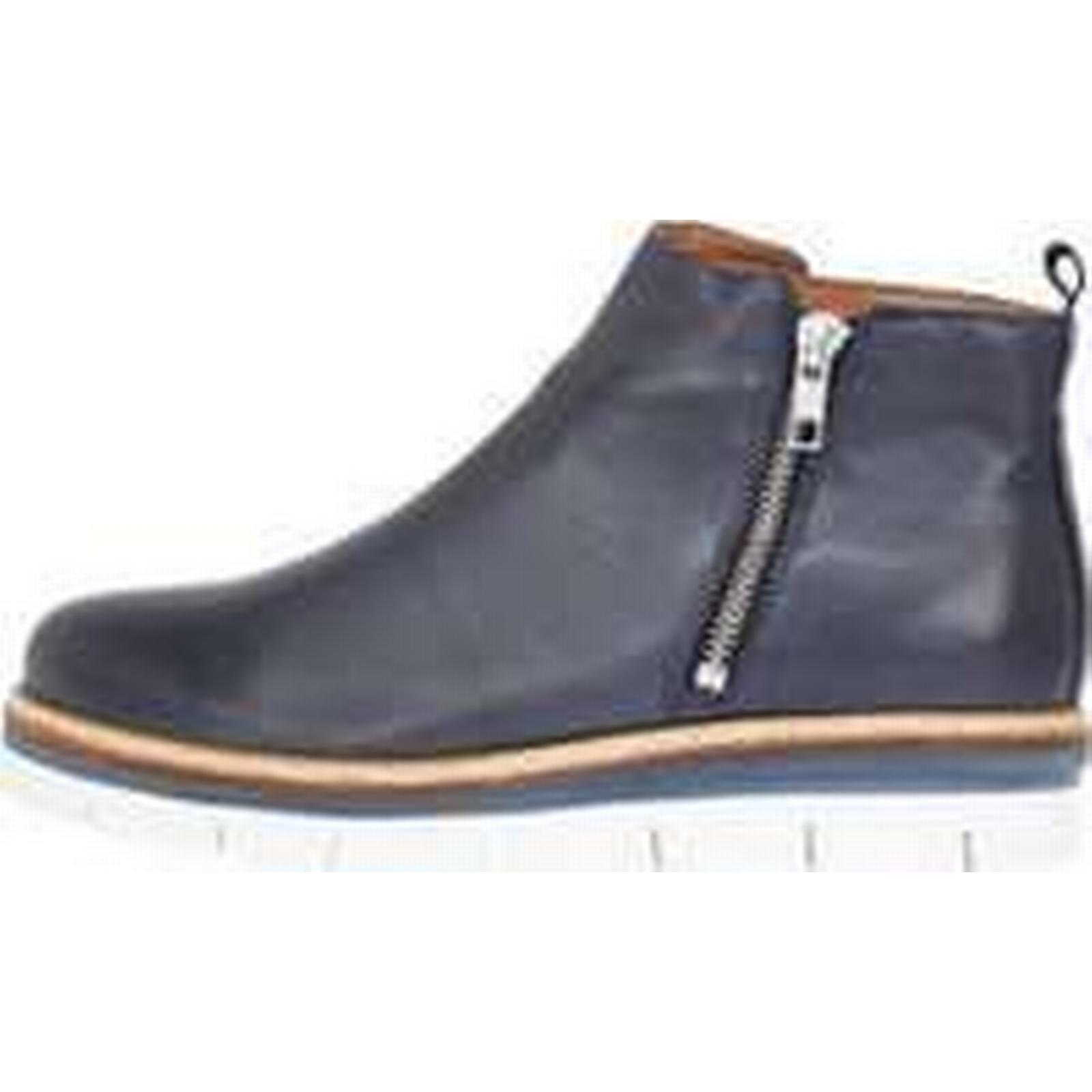 BIANCO Blue Cleated Zipper Boots Women Blue BIANCO (39) 801fbe