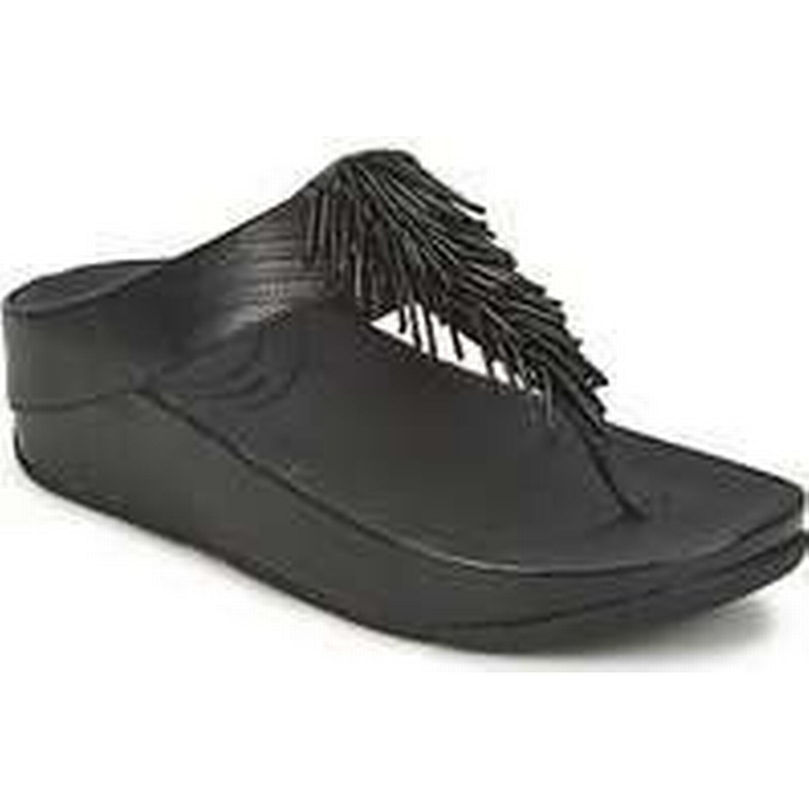 Spartoo.co.uk FitFlop CHA CHA™ women's Flip flops Black / Sandals (Shoes) in Black flops 483f70