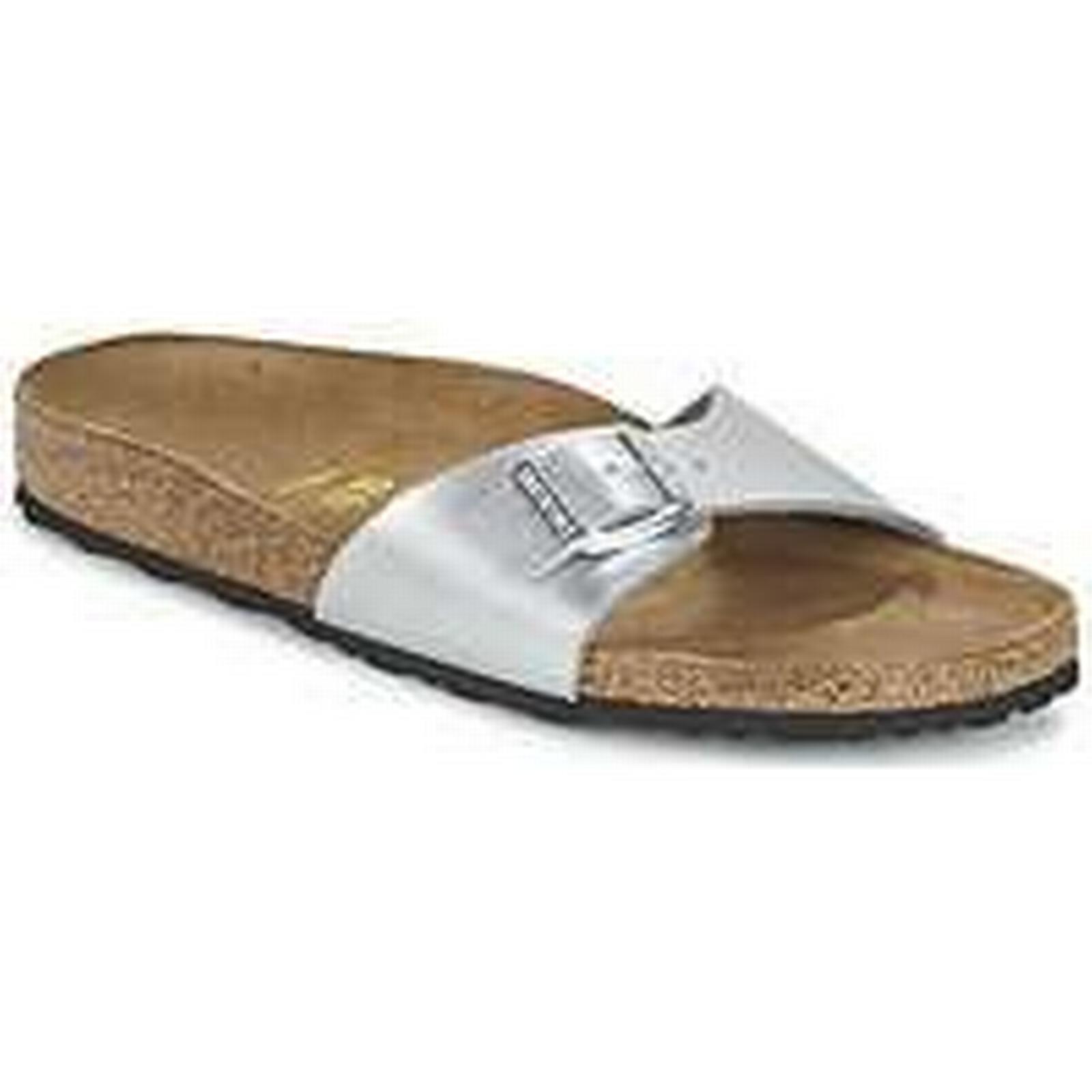 Spartoo.co.uk Birkenstock Casual MADRID women's Mules / Casual Birkenstock Shoes in Silver 8bd159
