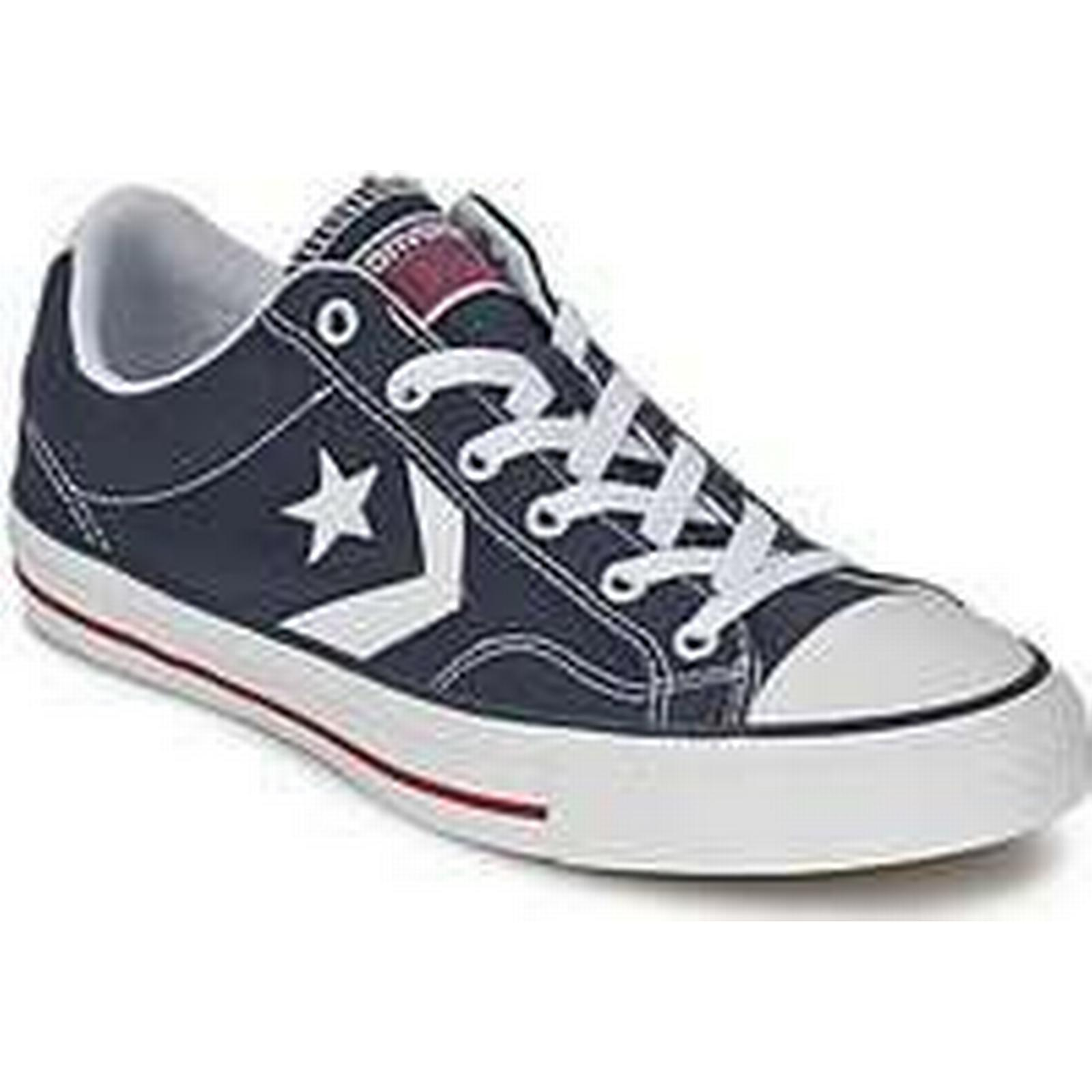 Spartoo.co.uk Converse STAR PLAYER Shoes CORE CANV OX women's Shoes PLAYER (Trainers) in Blue 32cf2c