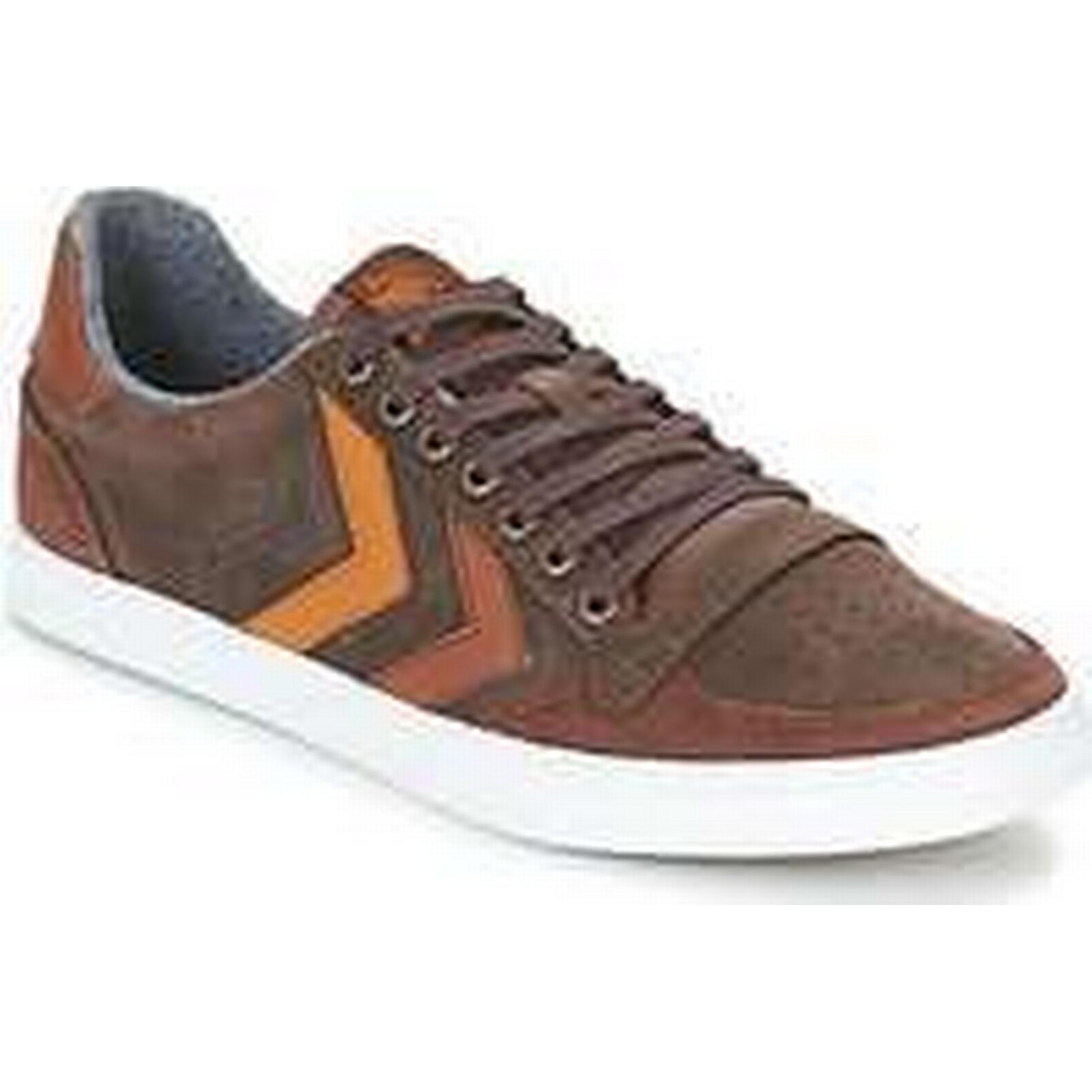 Spartoo.co.uk men's Hummel SLIMMER STADIL DUO OILED LOW men's Spartoo.co.uk Shoes (Trainers) in Brown d38a93