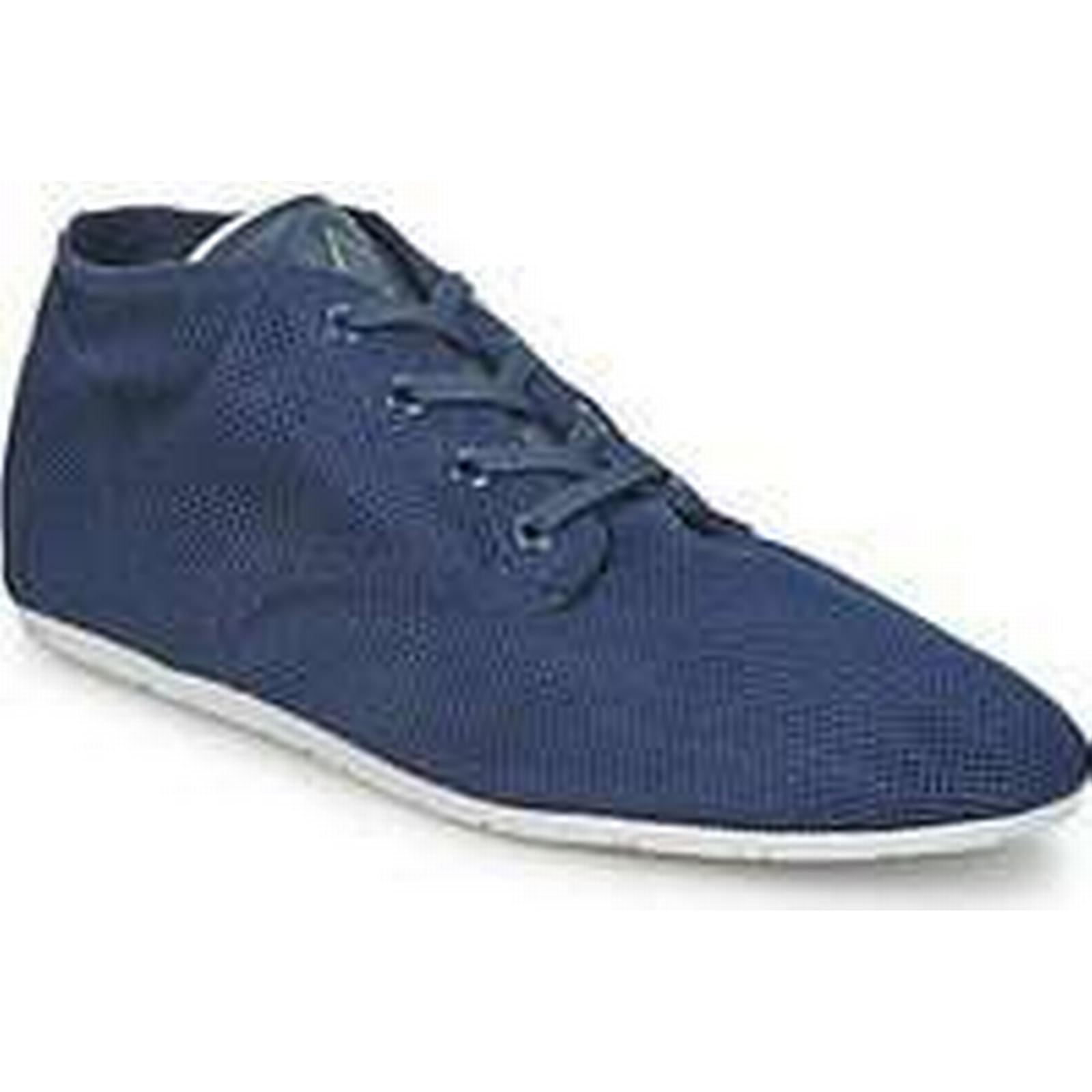 Spartoo.co.uk Eleven Paris BASIC in MATERIALS women's Shoes (High-top Trainers) in BASIC Blue 7774f6
