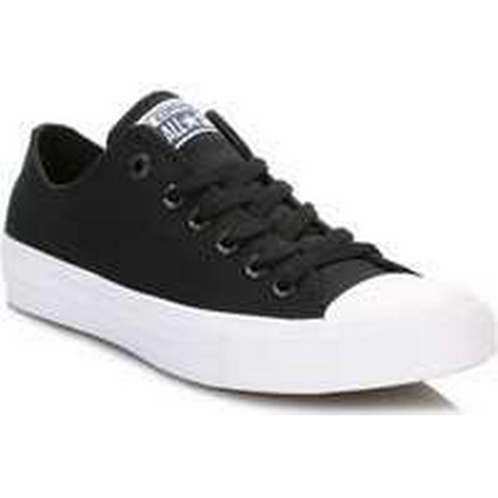 Spartoo.co.uk Converse All Star Chuck men's Taylor II Black Trainers men's Chuck Shoes (Trainers) in Black 928625