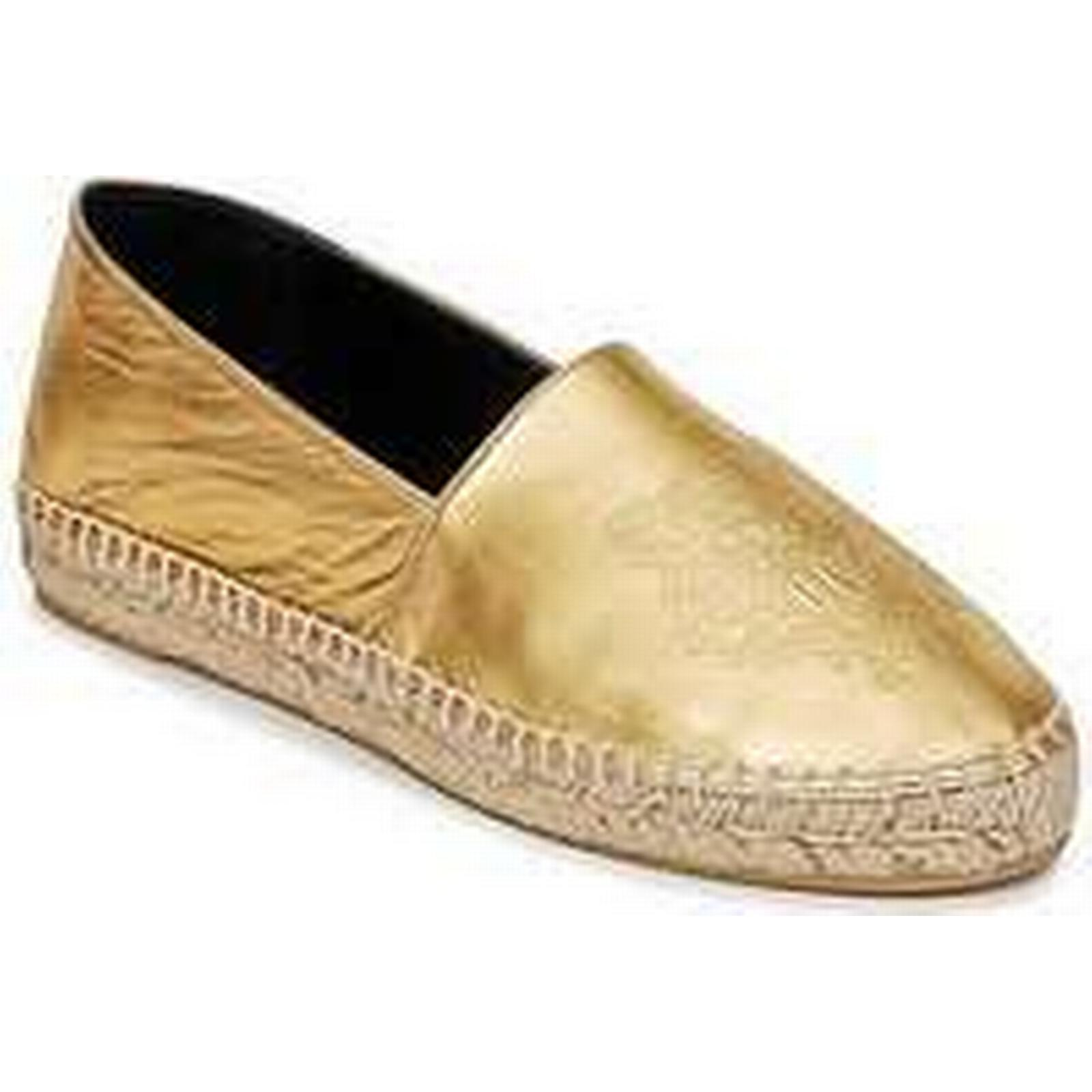 Spartoo.co.uk Kenzo TIGER METALIC SYNTHETIC LEATHER Shoes women's Espadrilles / Casual Shoes LEATHER in Gold e9f163