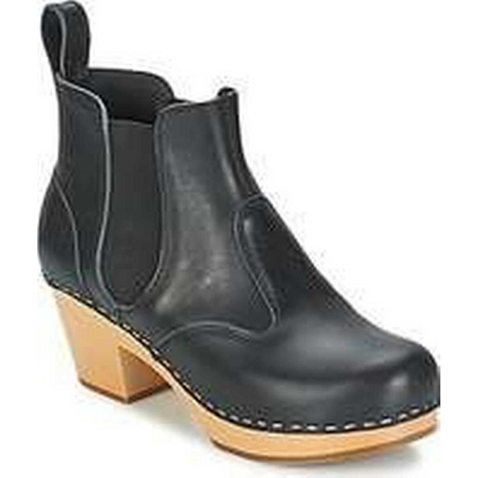 Spartoo.co.uk Swedish hasbeens CHELSEA in women's Low Ankle Boots in CHELSEA Black 943619