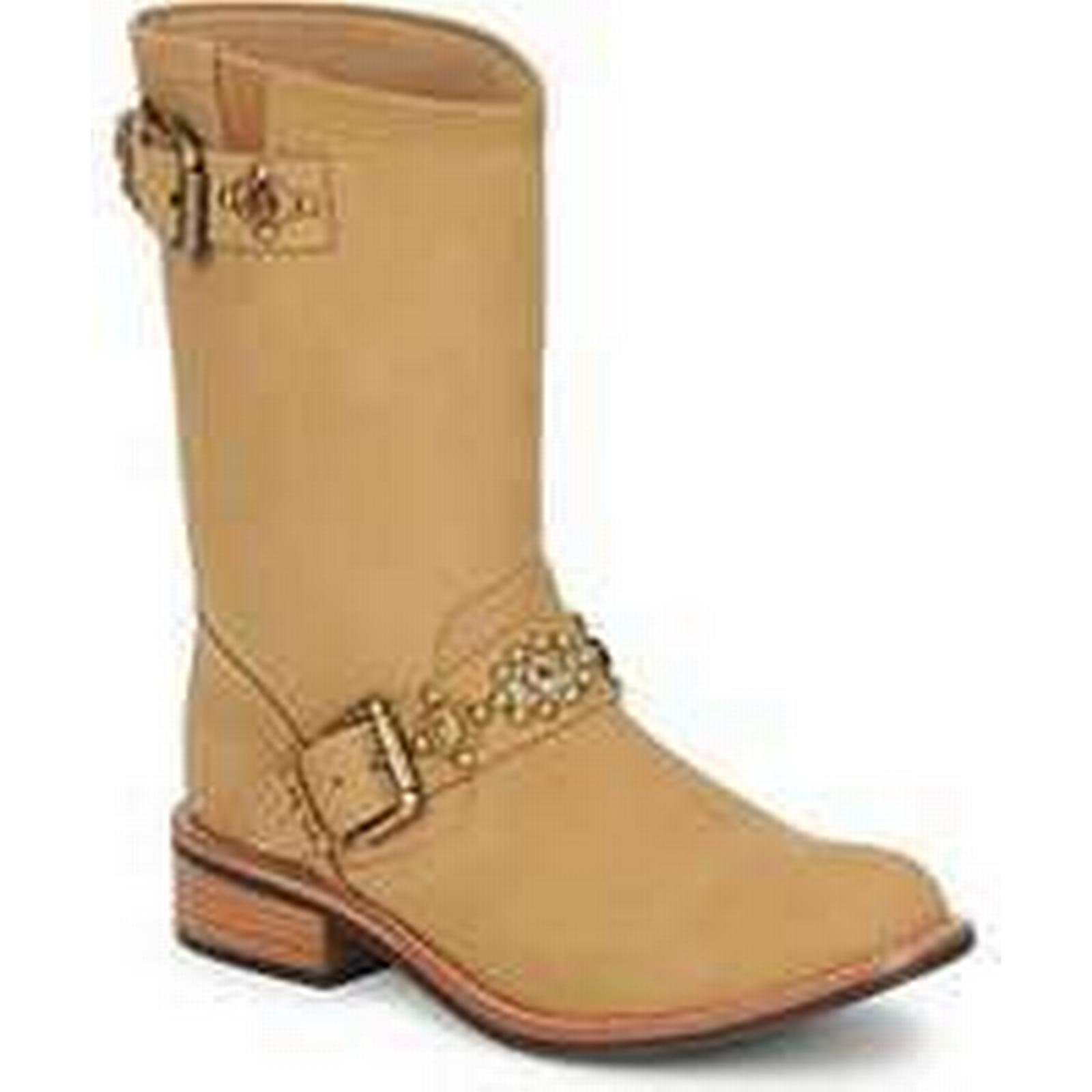 Spartoo.co.uk Miss Boots L'Fire MCQUEEN women's Mid Boots Miss in Beige 90f28f