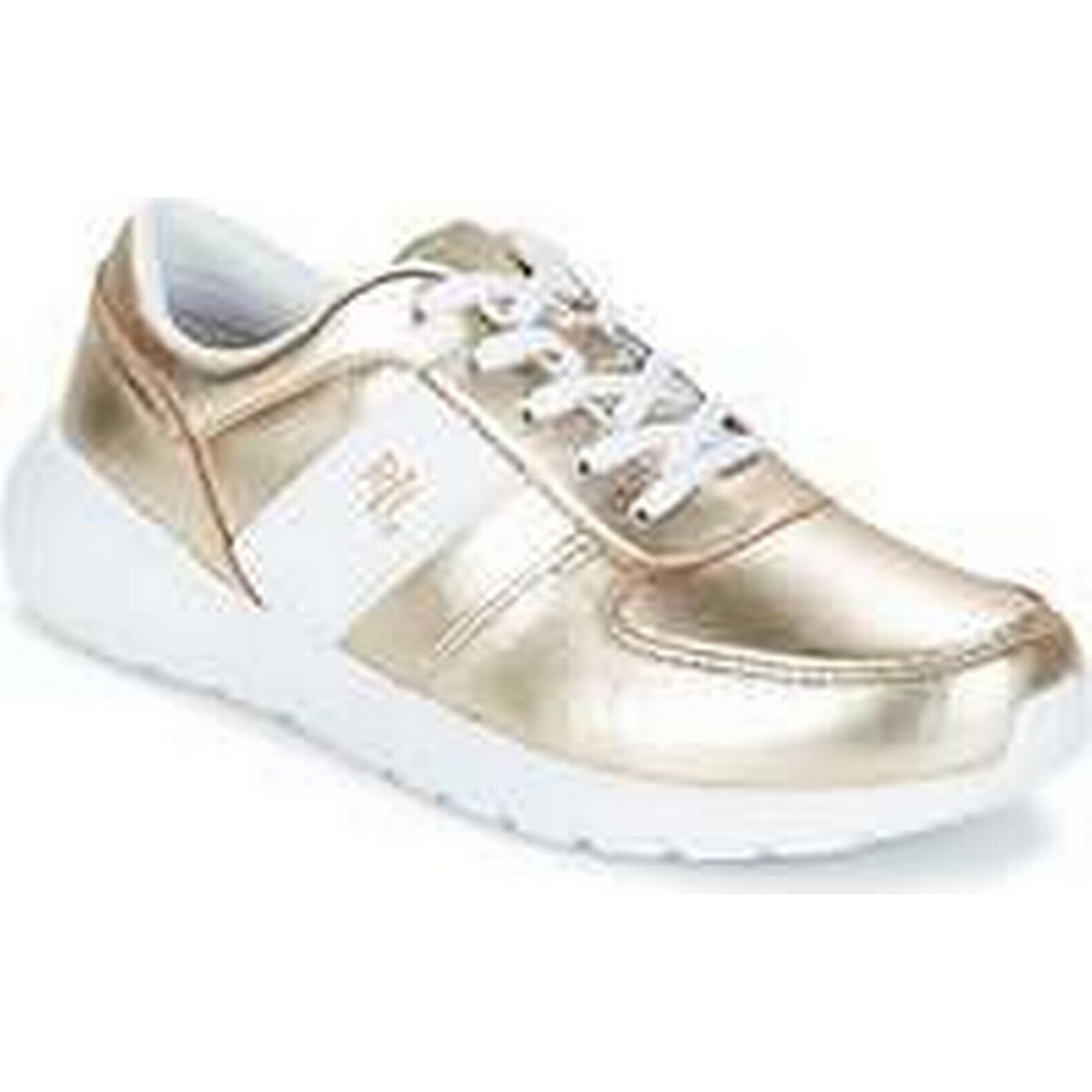 Spartoo.co.uk Lauren Ralph SHOE Lauren JAY SNEAKERS ATHLETIC SHOE Ralph women's Shoes (Trainers) in Gold 01939f