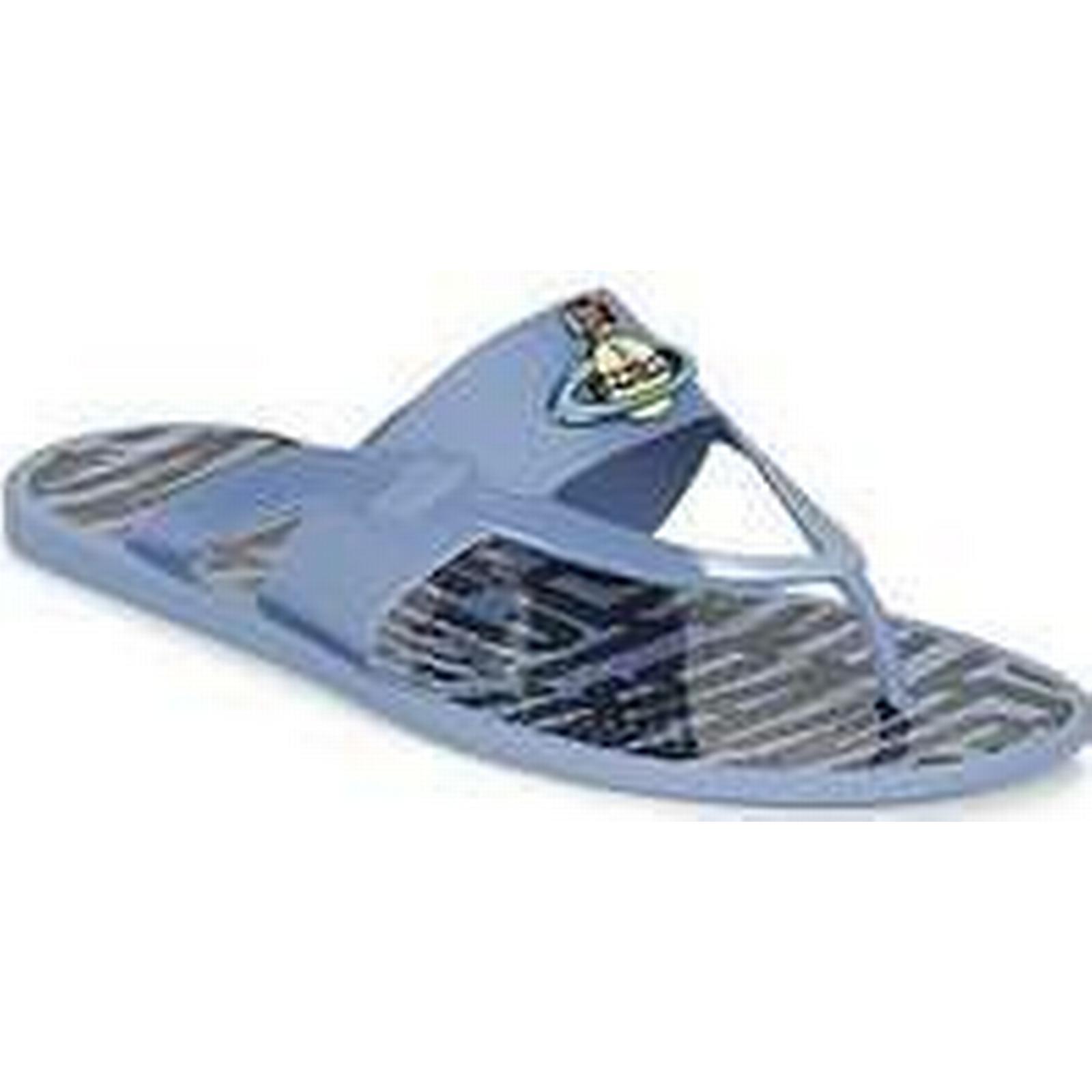 Spartoo.co.uk Vivienne Westwood ORB ENAMELLED SDL men's Flip flops Blue / Sandals (Shoes) in Blue flops e59938
