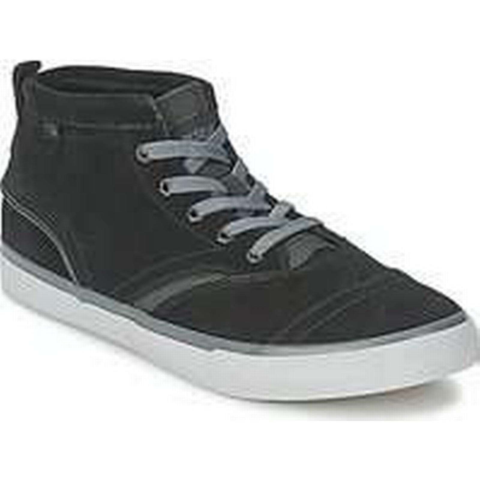 Spartoo.co.uk Shoes Quiksilver HEYDEN SUEDE men's Shoes Spartoo.co.uk (High-top Trainers) in Black 90e601