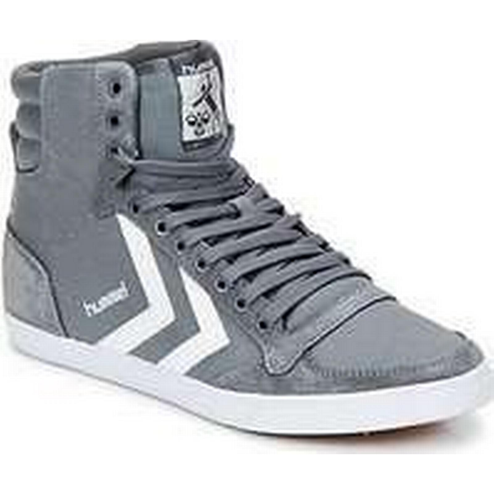 Spartoo.co.uk Hummel TEN STAR HIGH in men's Shoes (High-top Trainers) in HIGH Grey e2b902