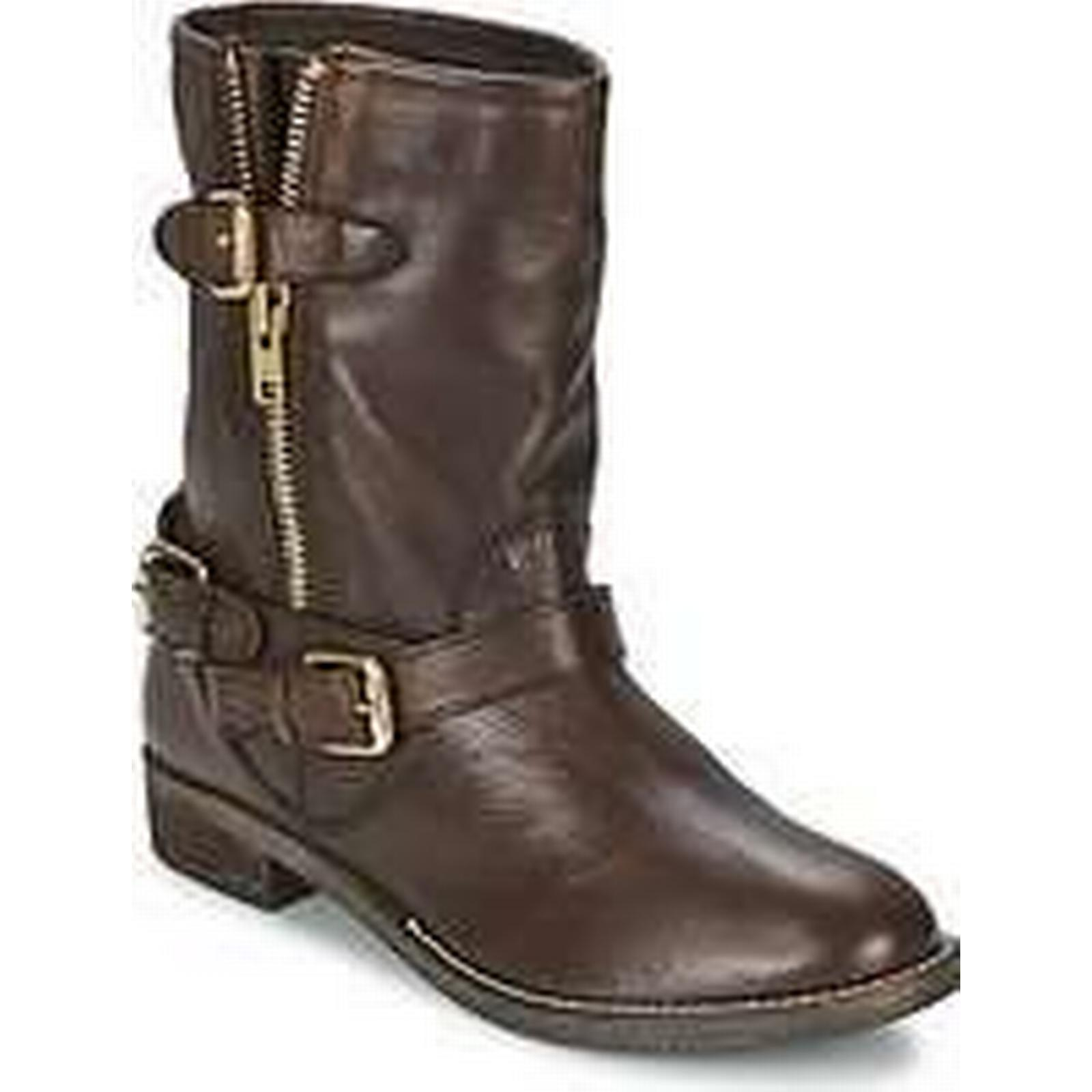 Spartoo.co.uk Boots Dune ROBBIN women's Mid Boots Spartoo.co.uk in Brown 1bee6a