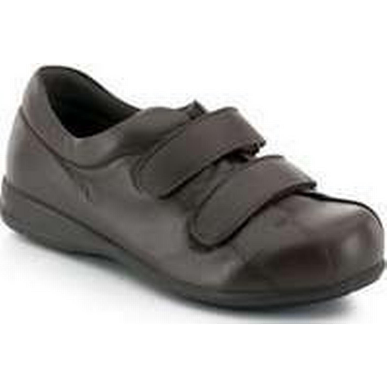 Spartoo.co.uk Calzamedi Unisex Velcro diabetic foot Brown women's Shoes (Trainers) in Brown foot 338f4b