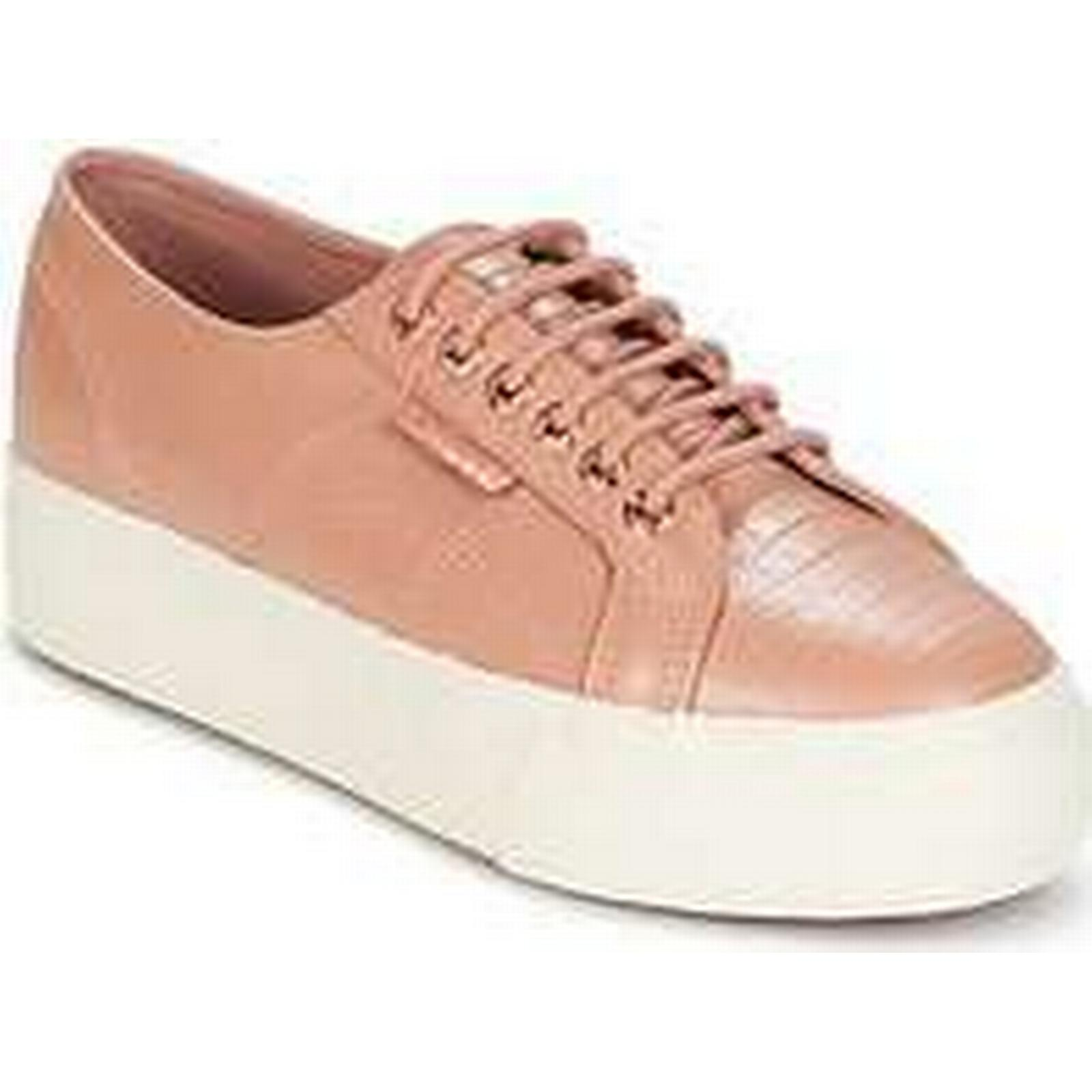 Spartoo.co.uk Superga 2790 F GL W (Trainers) EMB COCCO women's Shoes (Trainers) W in Pink f9b2b6