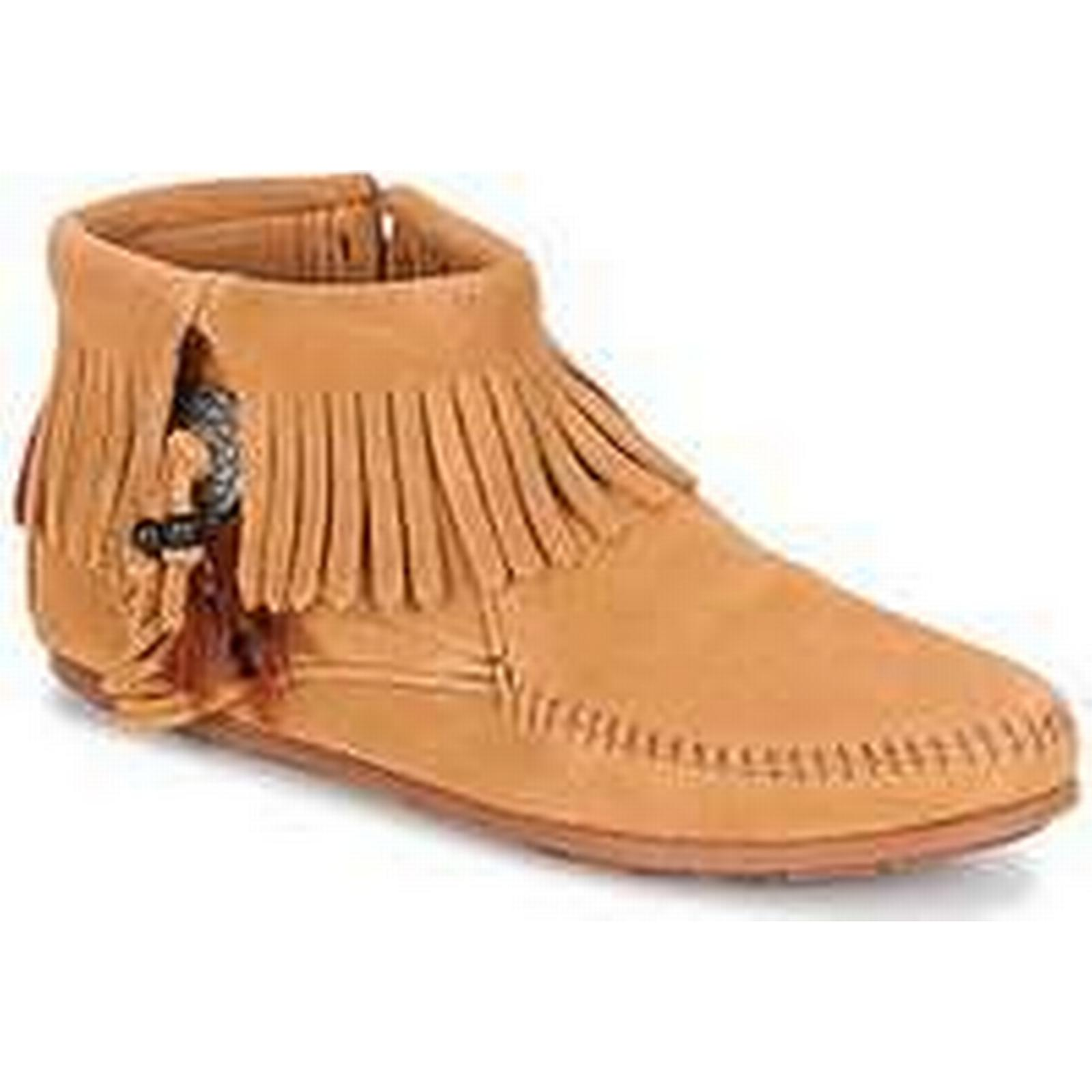 Spartoo.co.uk Minnetonka CONCHO FEATHER SIDE ZIP in BOOT women's Mid Boots in ZIP Brown 1631f3
