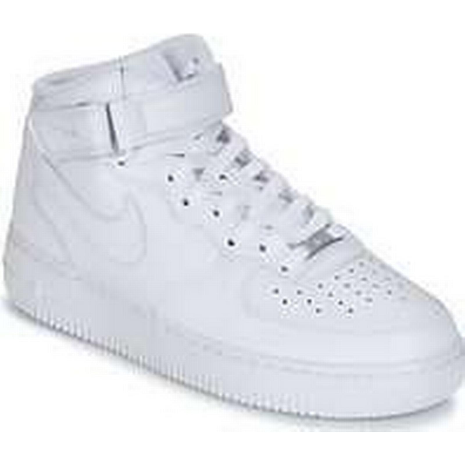 Spartoo.co.uk Nike AIR FORCE 1 MID in men's Shoes (High-top Trainers) in MID White bf0eb6