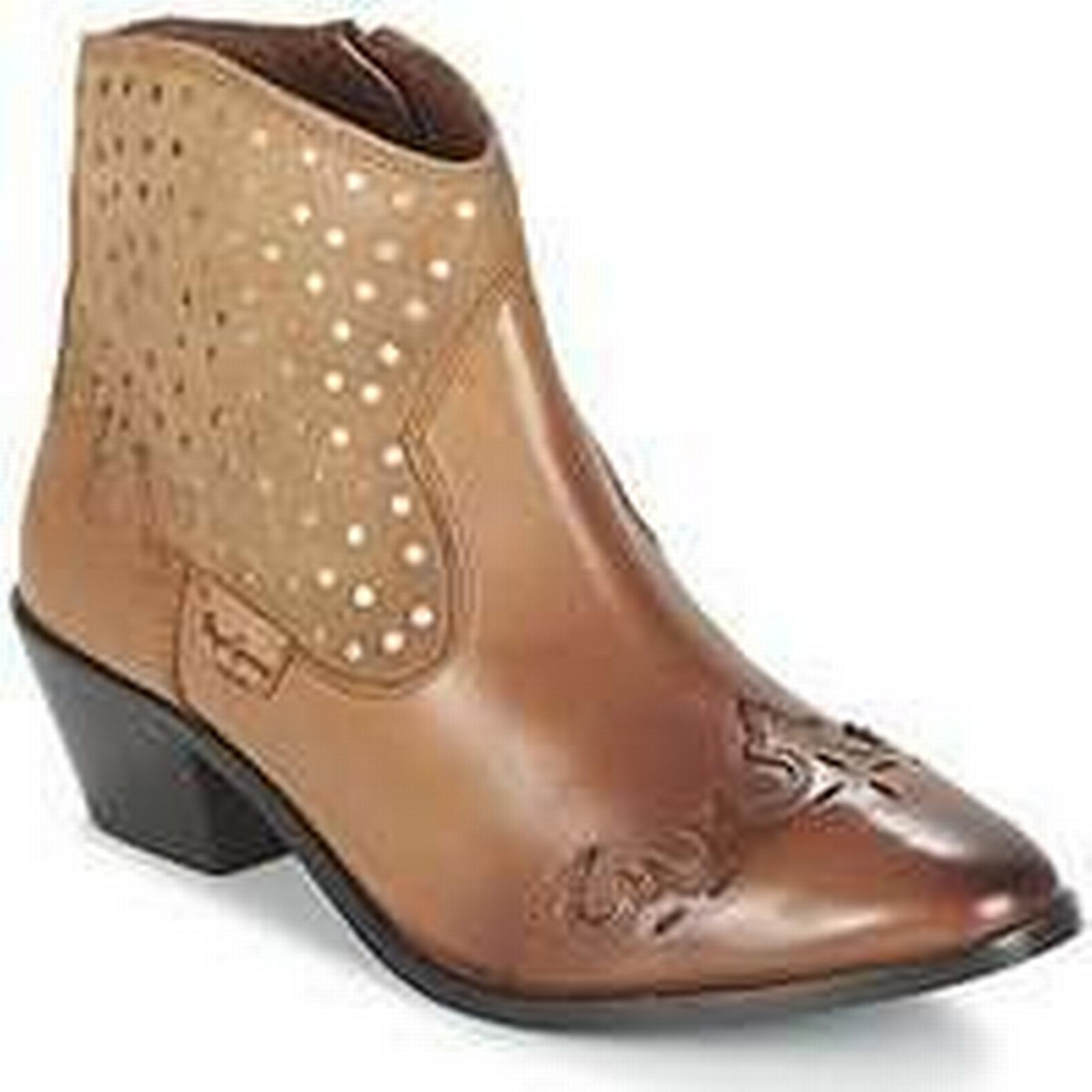 Spartoo.co.uk Pepe Mid jeans DINA STUDS women's Mid Pepe Boots in Brown d30282