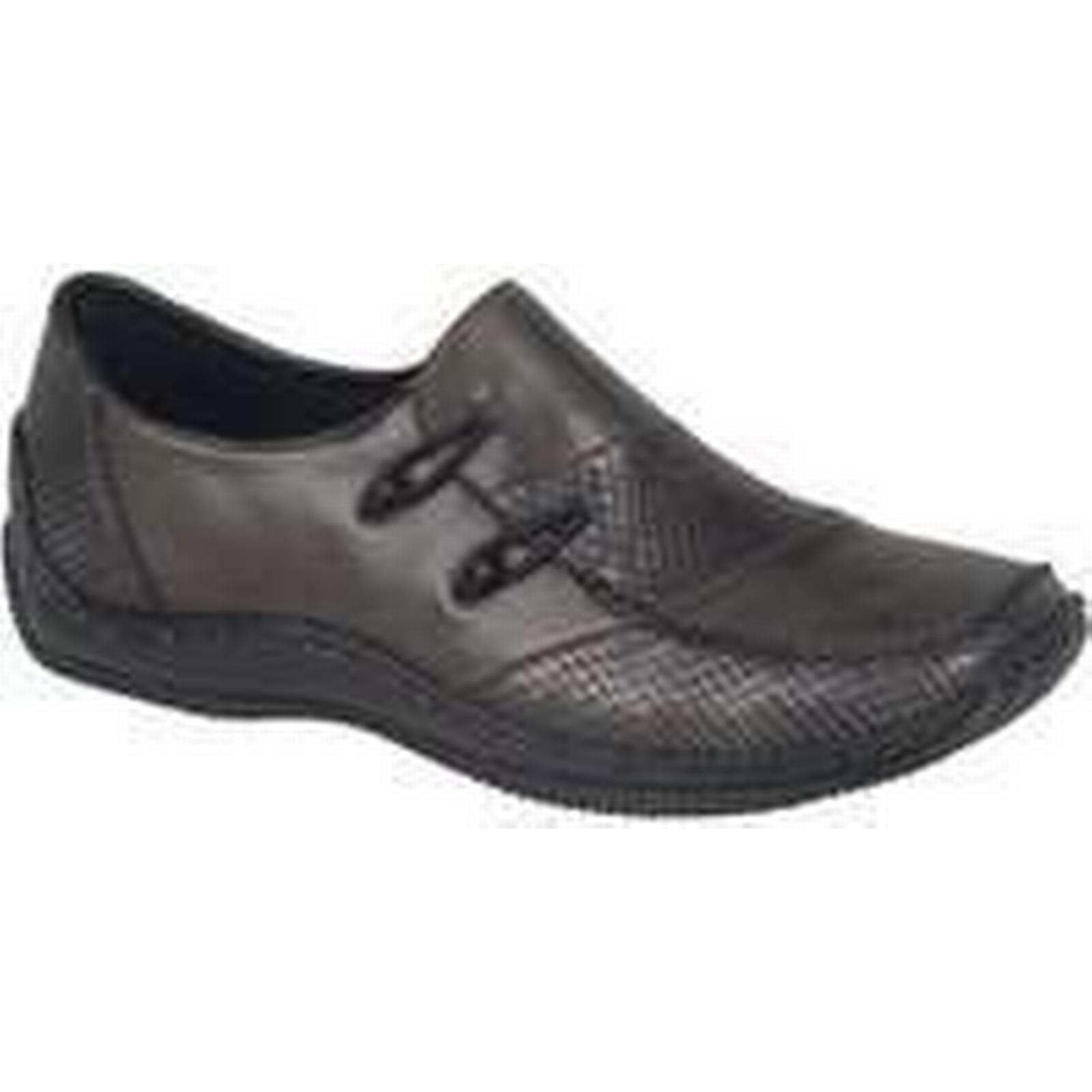 Spartoo.co.uk Rieker Cassie Womens Casual Shoes women's in Loafers / Casual Shoes in women's Grey 5a93bf