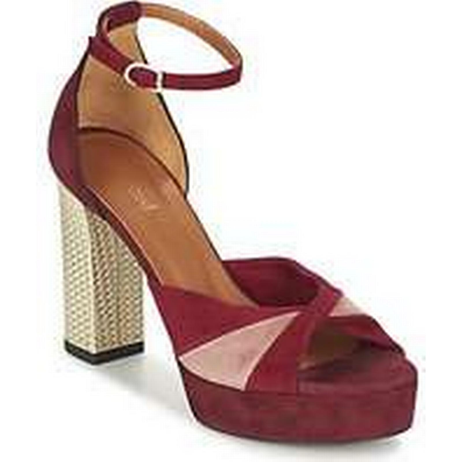 Spartoo.co.uk in Heyraud EVELINE women's Sandals in Spartoo.co.uk Red 7ea3b9
