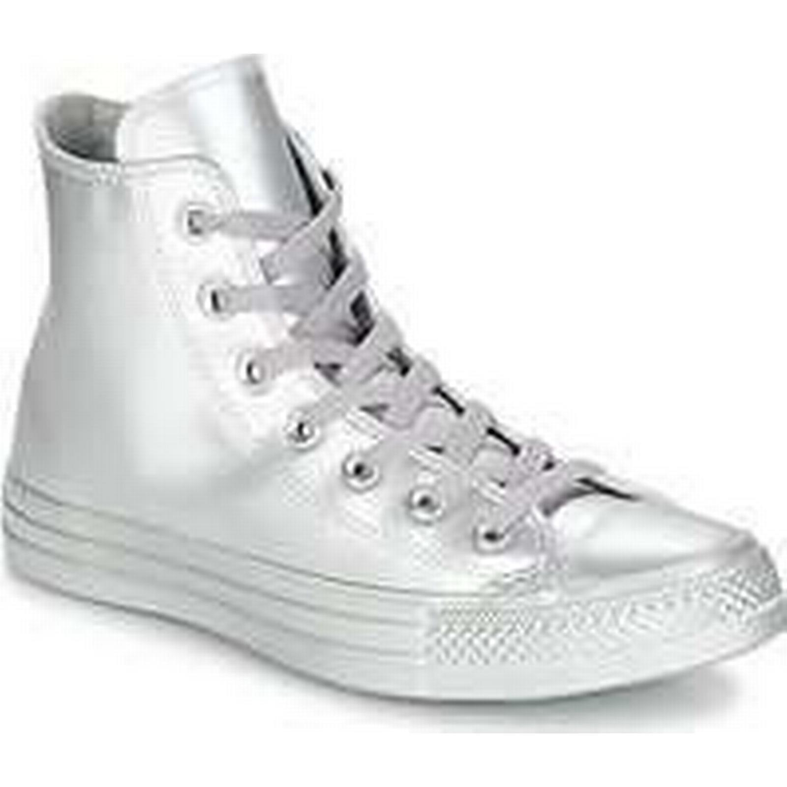Spartoo.co.uk Converse CHUCK TAYLOR ALL STAR LIQUID Shoes METALLIC HI SILVER/SILVER/SILVER women's Shoes LIQUID (High-top Trainers) in Silver 5ccccc